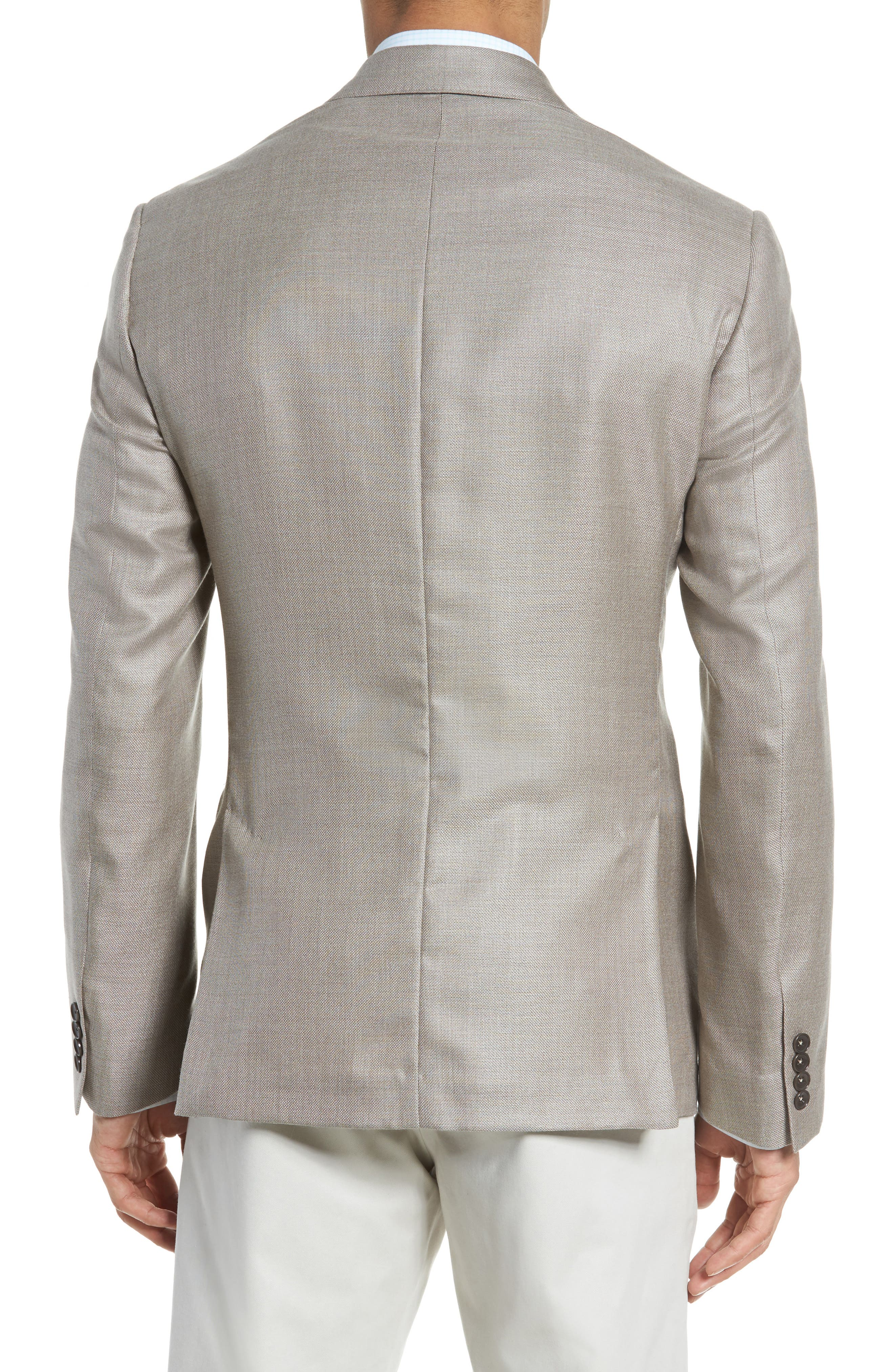 Trim Fit Cashmere & Silk Blazer,                             Alternate thumbnail 6, color,
