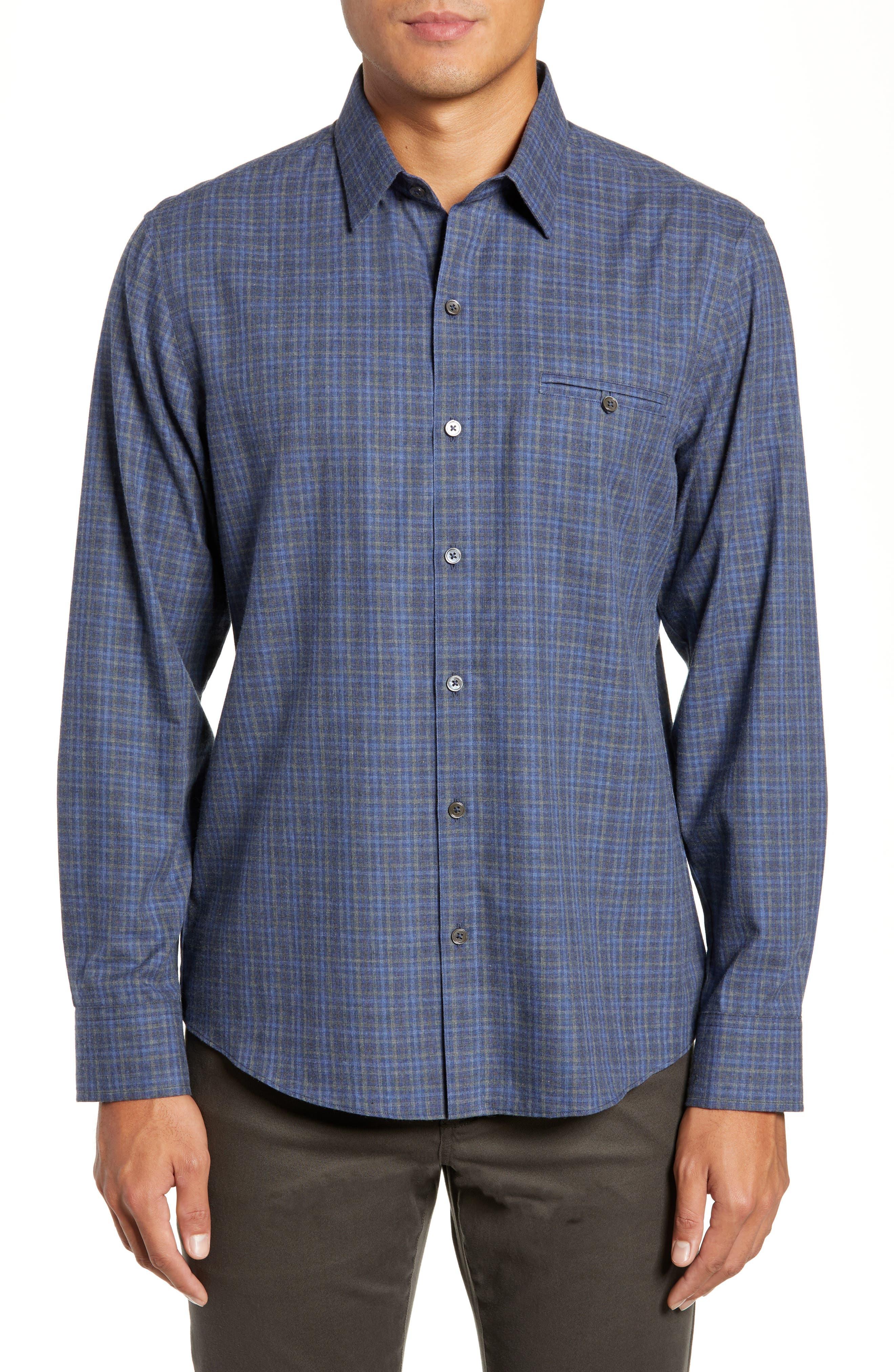 Nguyen Regular Fit Sport Shirt,                             Main thumbnail 1, color,                             DARK BLUE