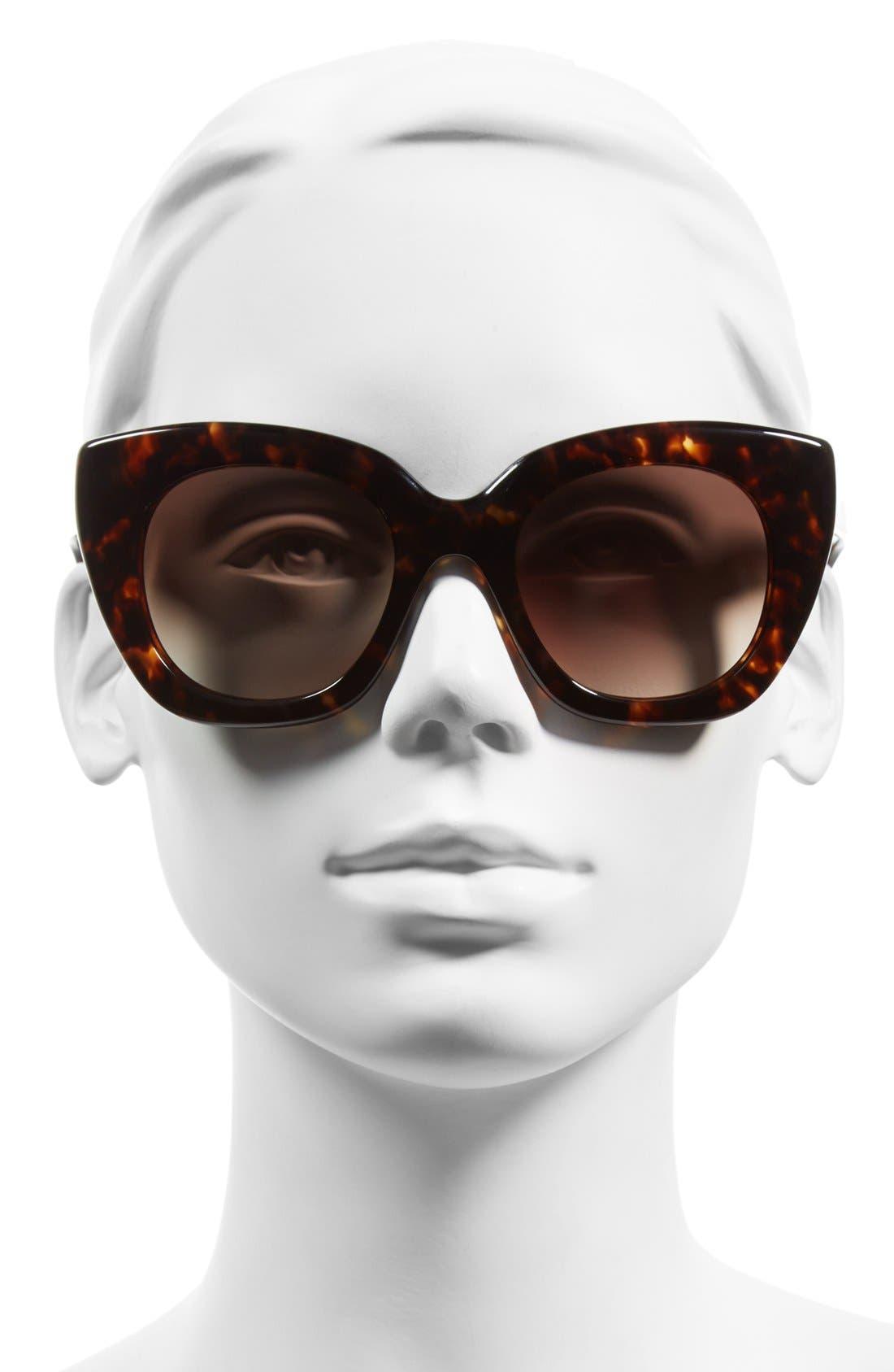 'narelle' 51mm retro sunglasses,                             Alternate thumbnail 5, color,