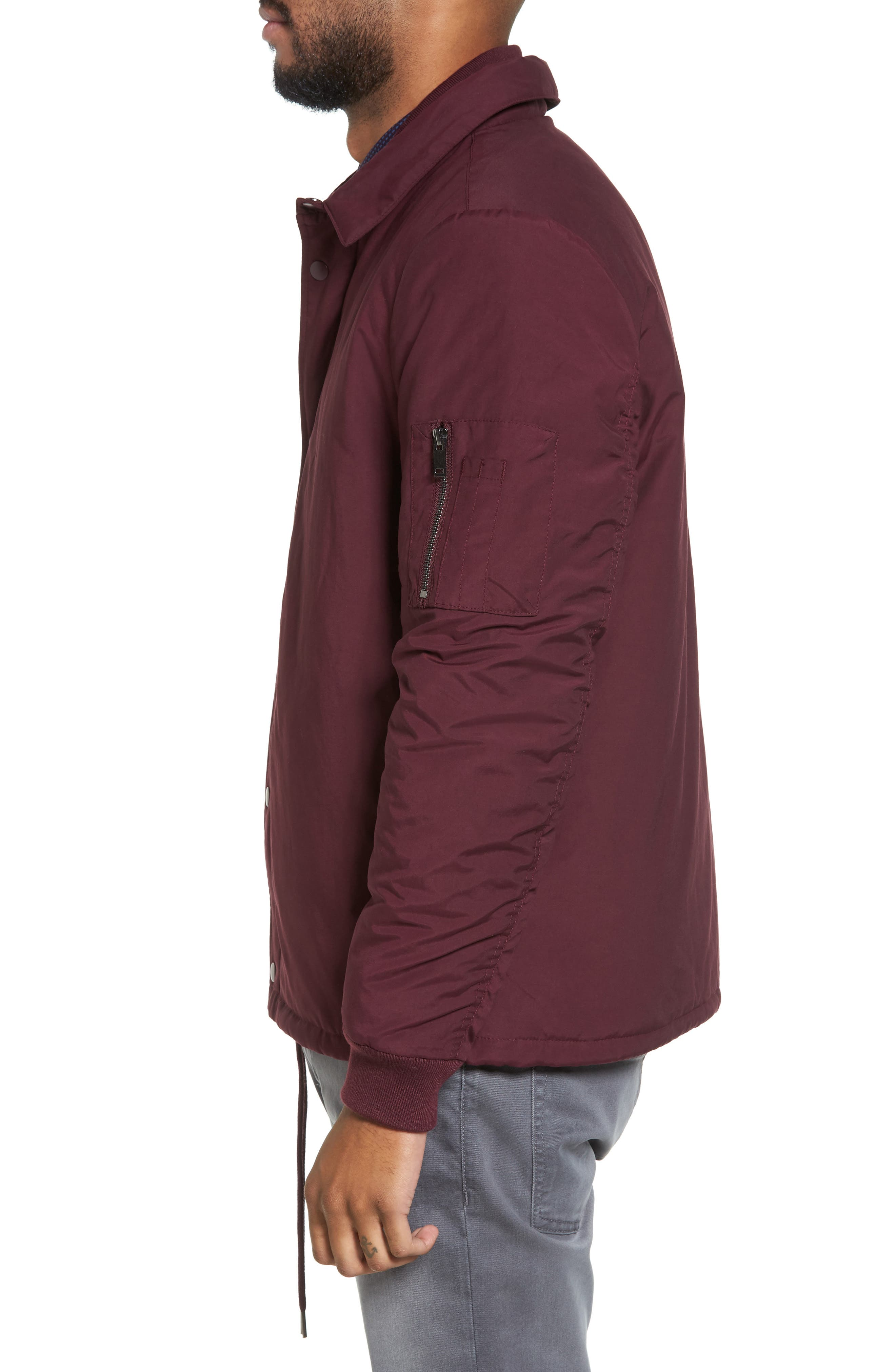 Collared Bomber Jacket,                             Alternate thumbnail 6, color,