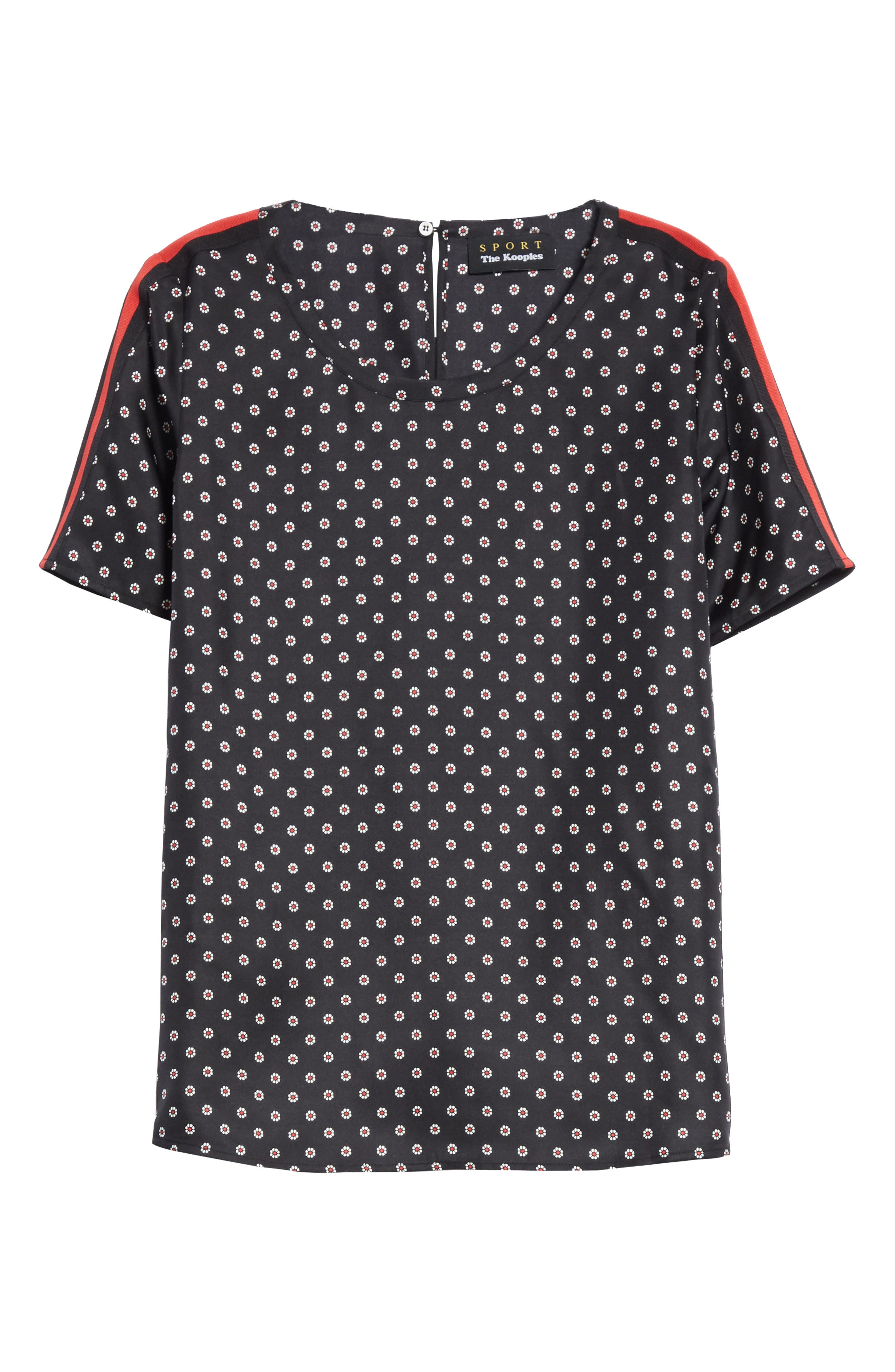 Ruby Floral Silk Tee,                             Alternate thumbnail 6, color,                             001