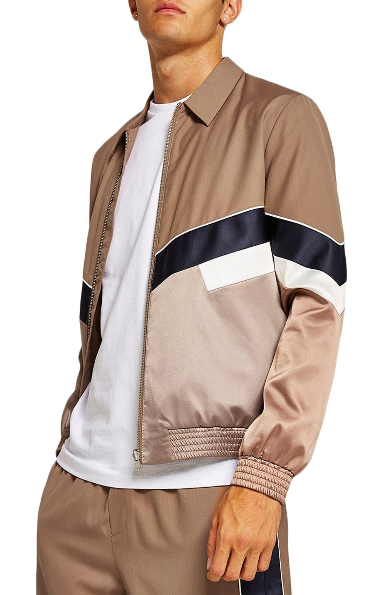 Chevron Track Jacket,                         Main,                         color, STONE