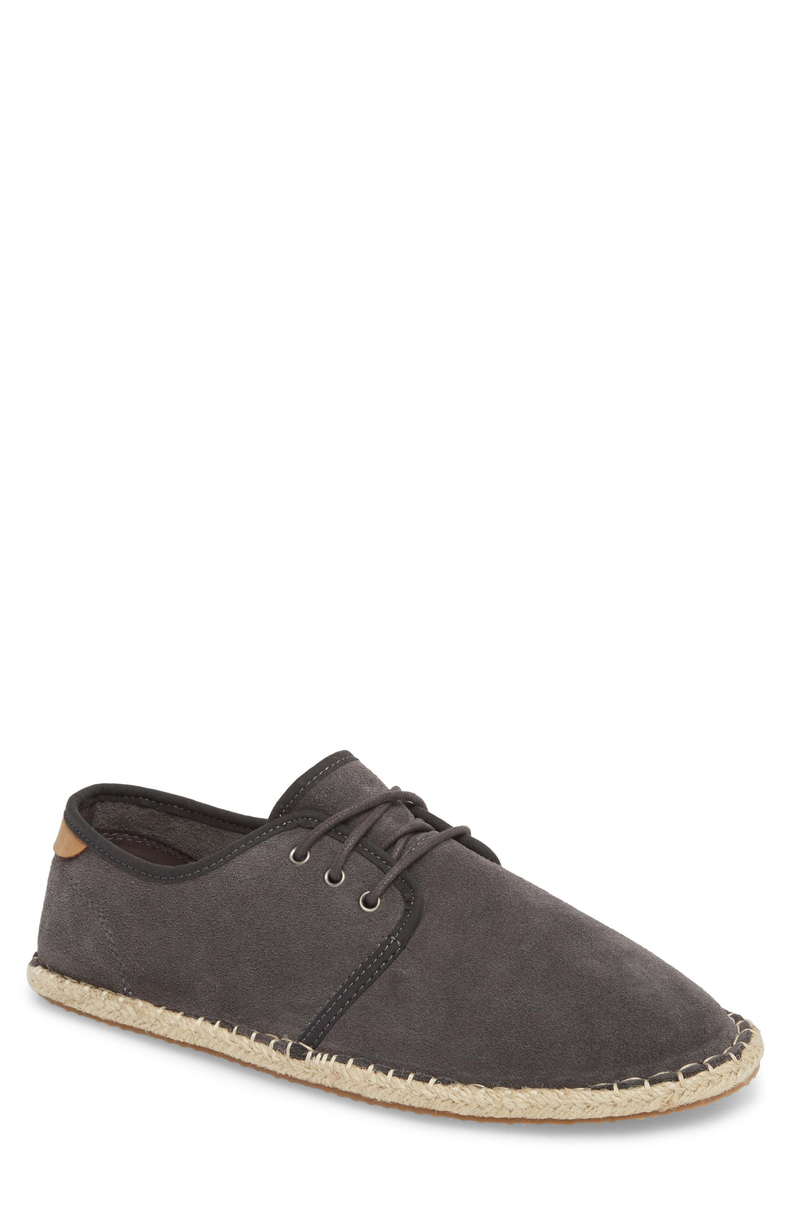 Diego Deconstructed Derby,                             Main thumbnail 1, color,                             FORGED IRON GREY SUEDE