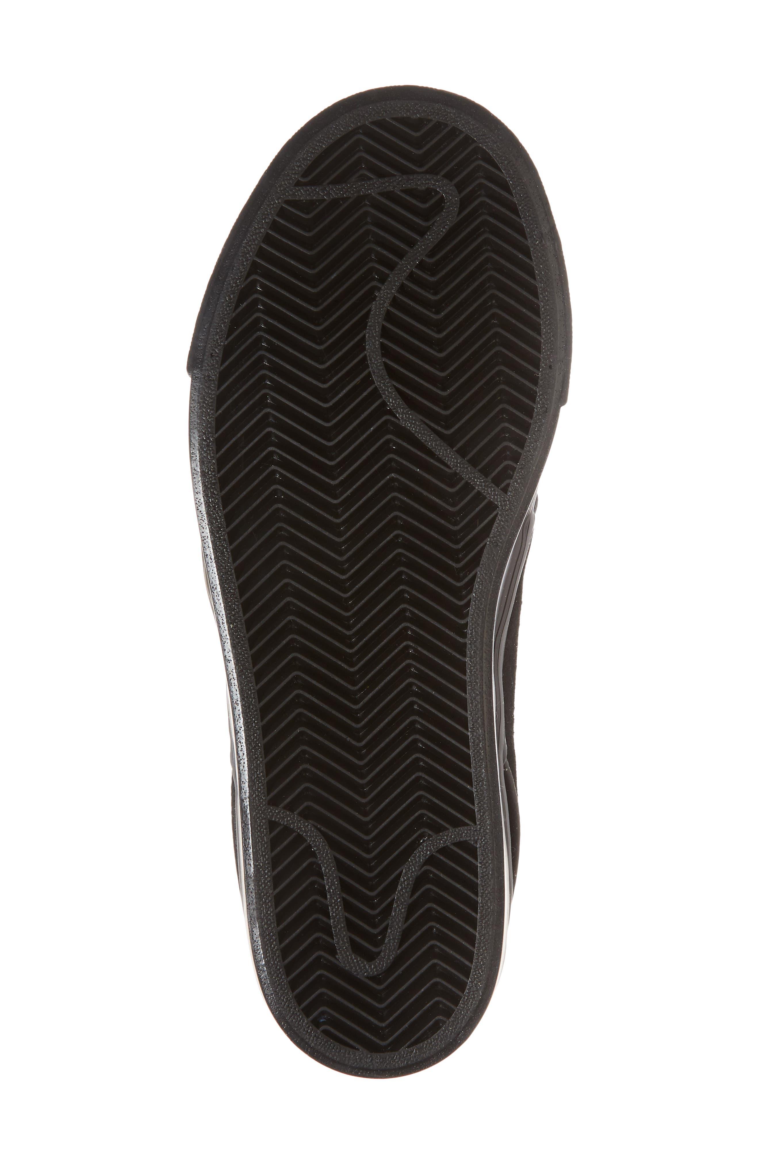 SB Air Zoom Stefan Janoski Skate Sneaker,                             Alternate thumbnail 6, color,                             BLACK/ BLACK/ BLACK