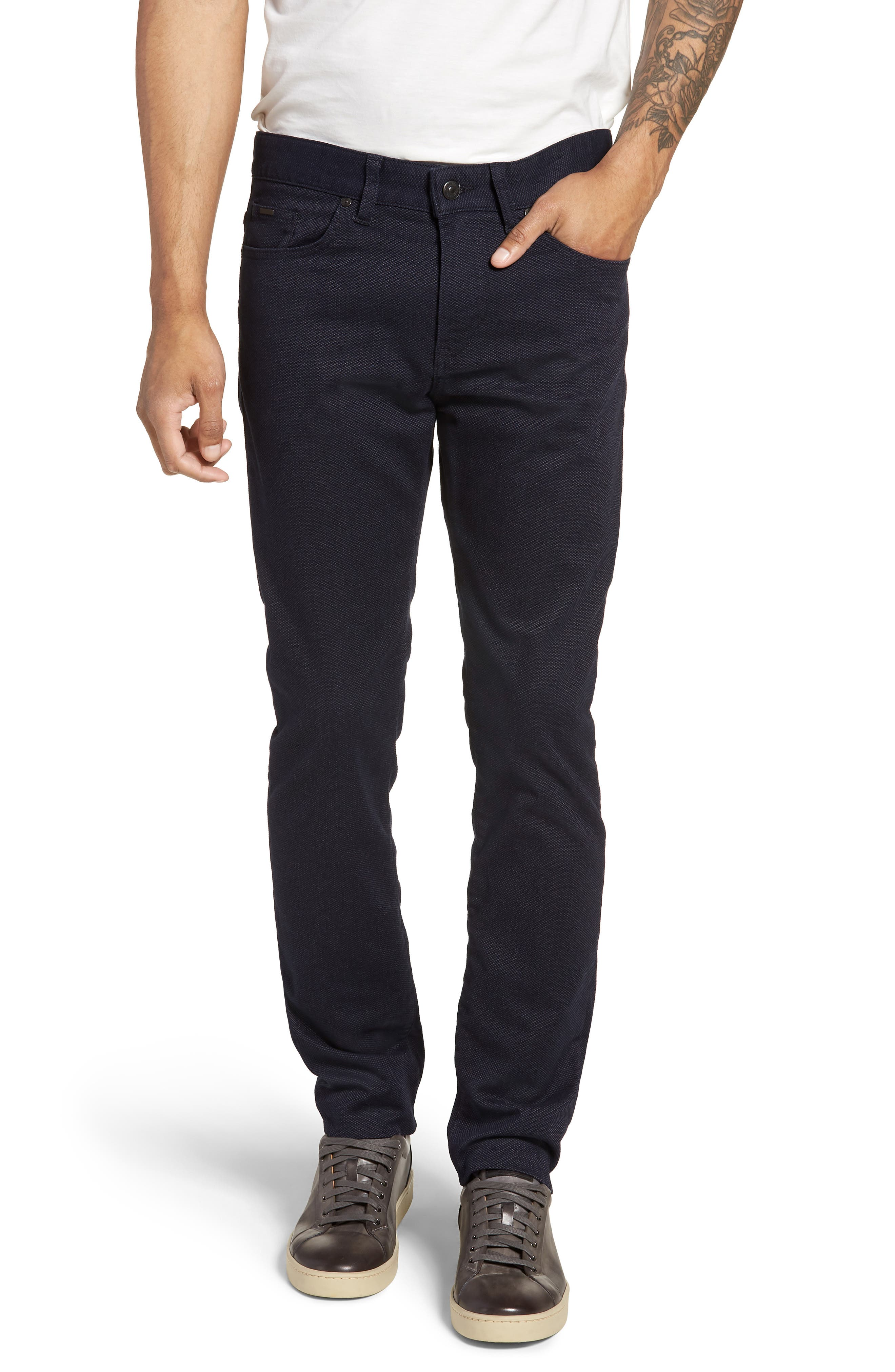 Delaware Slim Fit Jeans,                         Main,                         color, NAVY