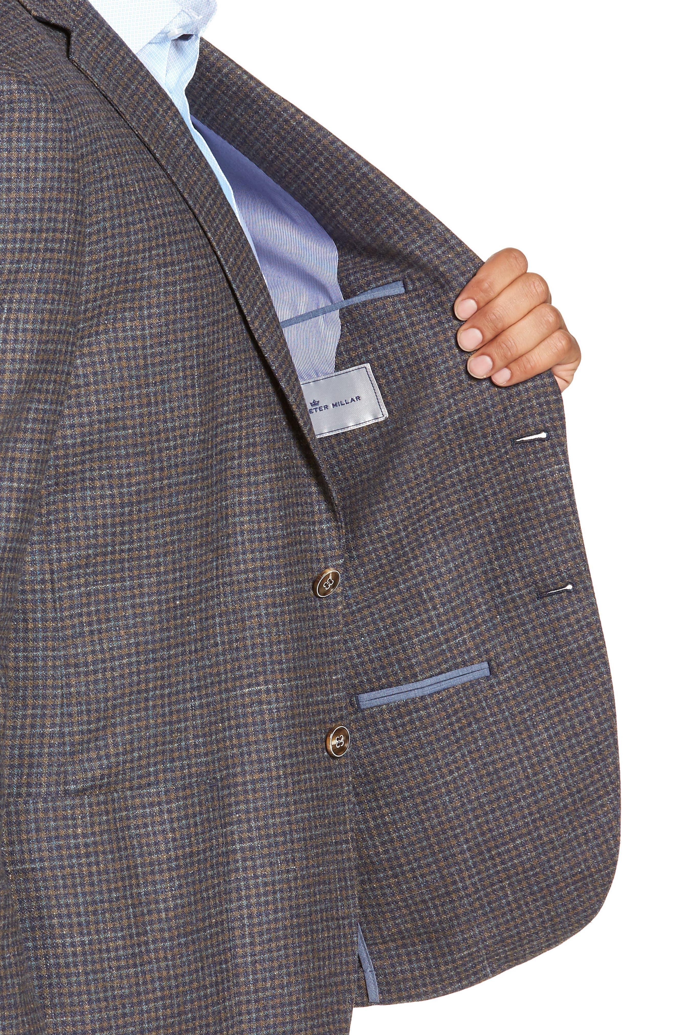 Crown Soft Check Regular Fit Sport Coat,                             Alternate thumbnail 3, color,                             YELLOW
