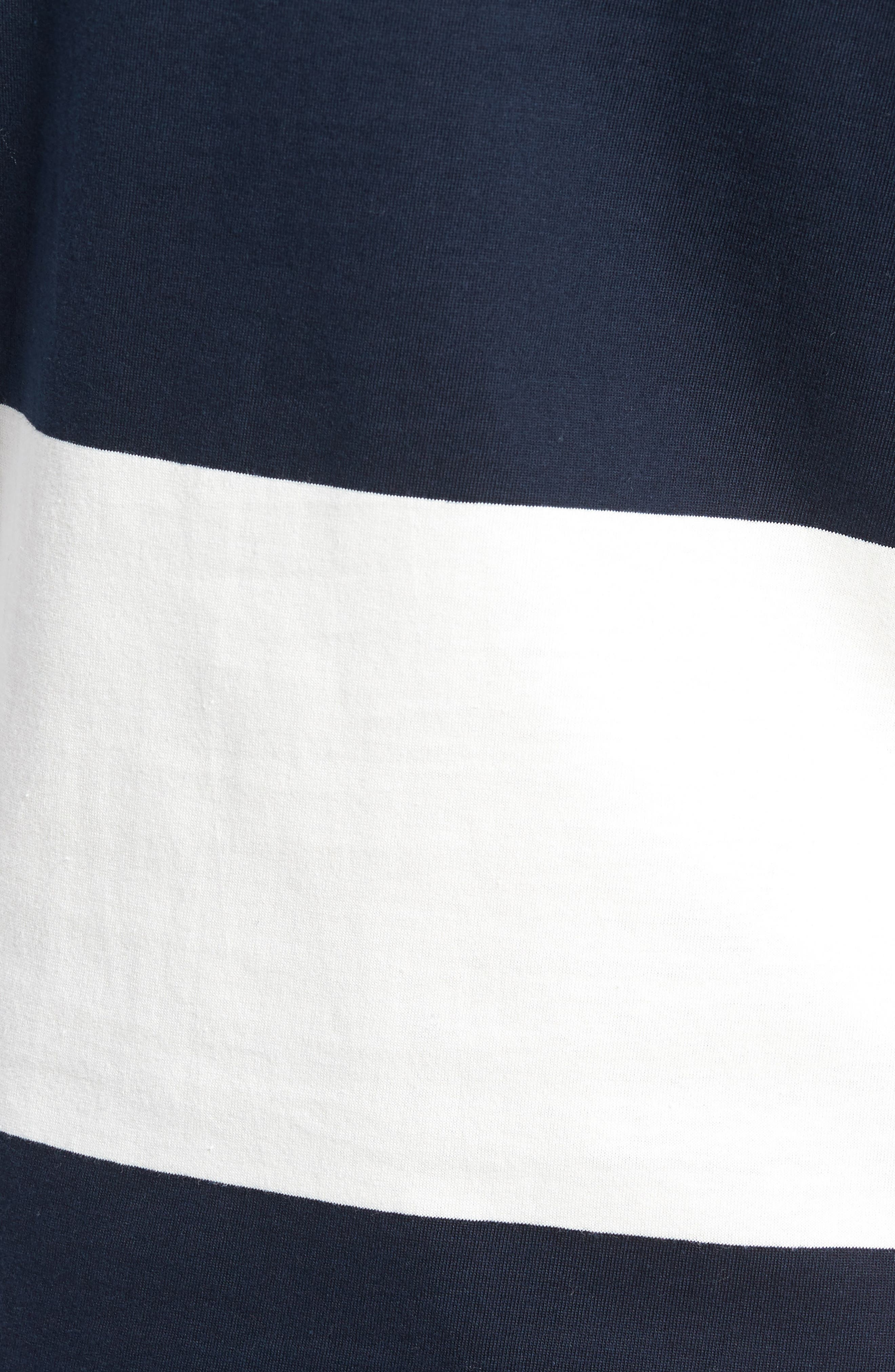 Regular Fit Block Stripe Shirt,                             Alternate thumbnail 5, color,                             100