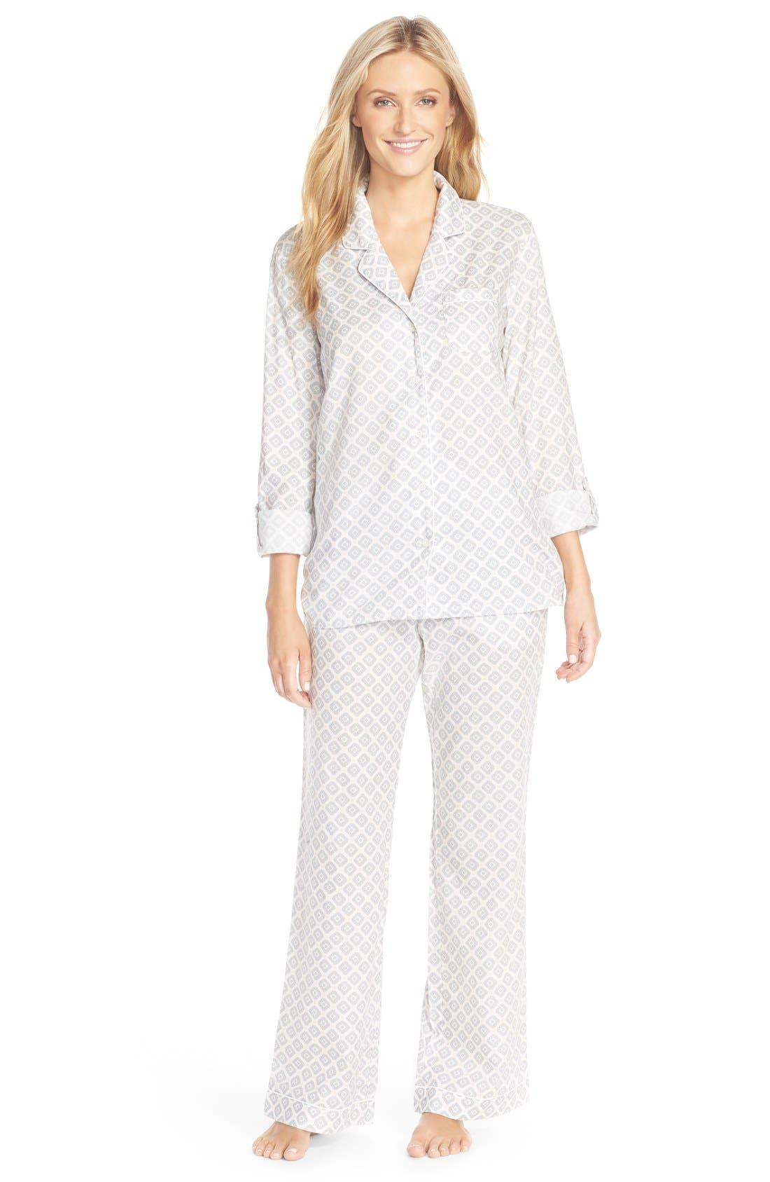 Cotton Twill Pajamas,                             Main thumbnail 3, color,
