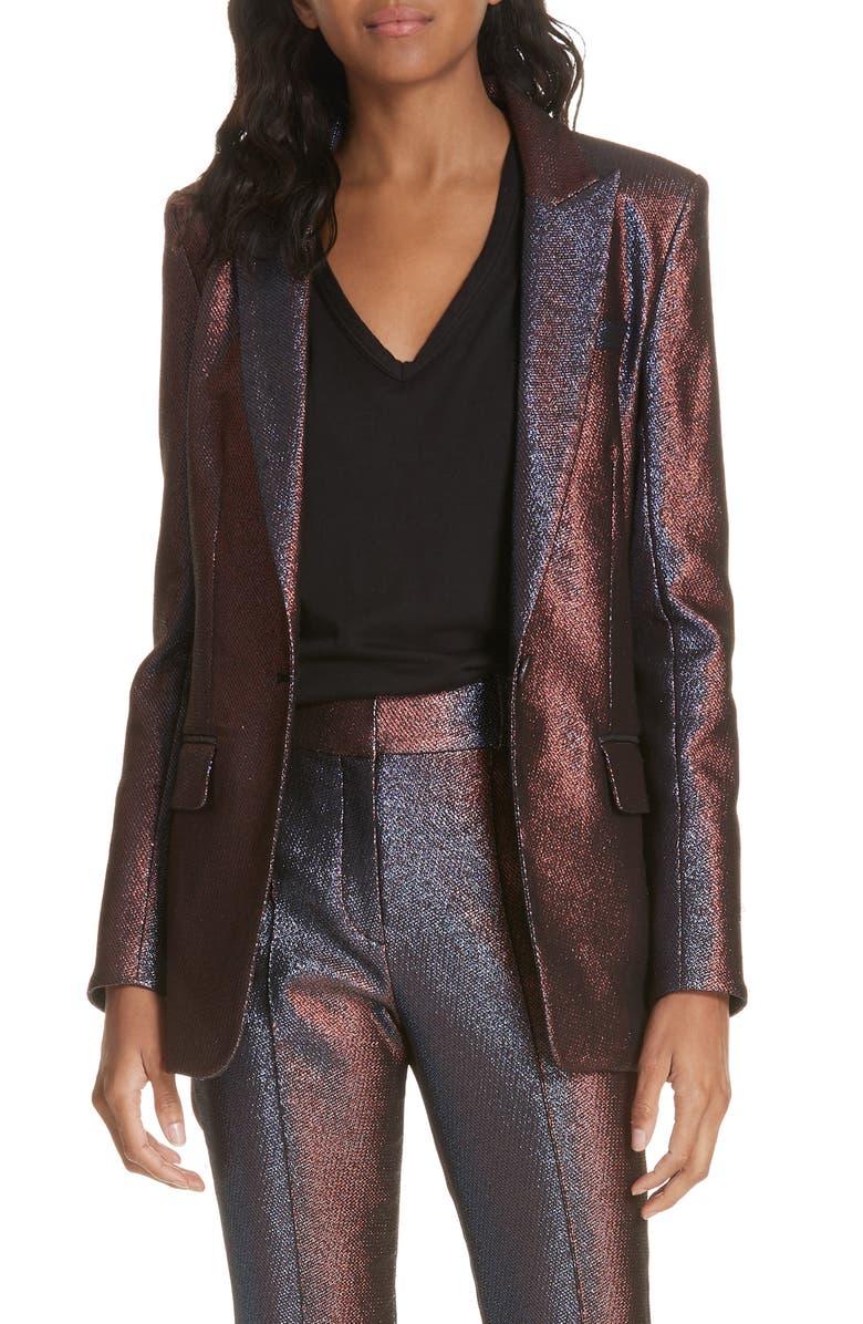 Ashburn Metallic Blazer,                         Main,                         color, PINK