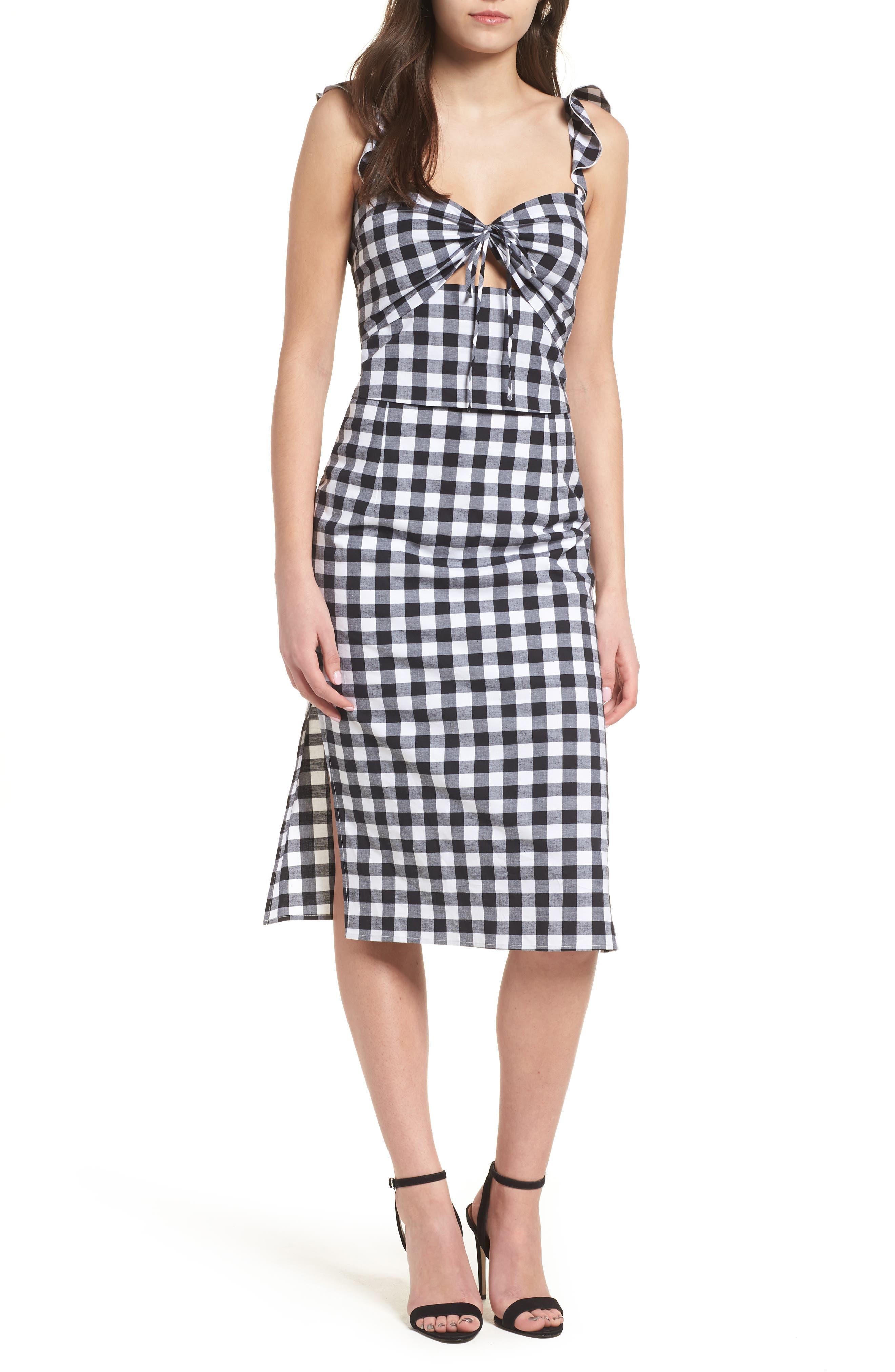 Verona Cutout Midi Dress,                             Alternate thumbnail 5, color,                             001