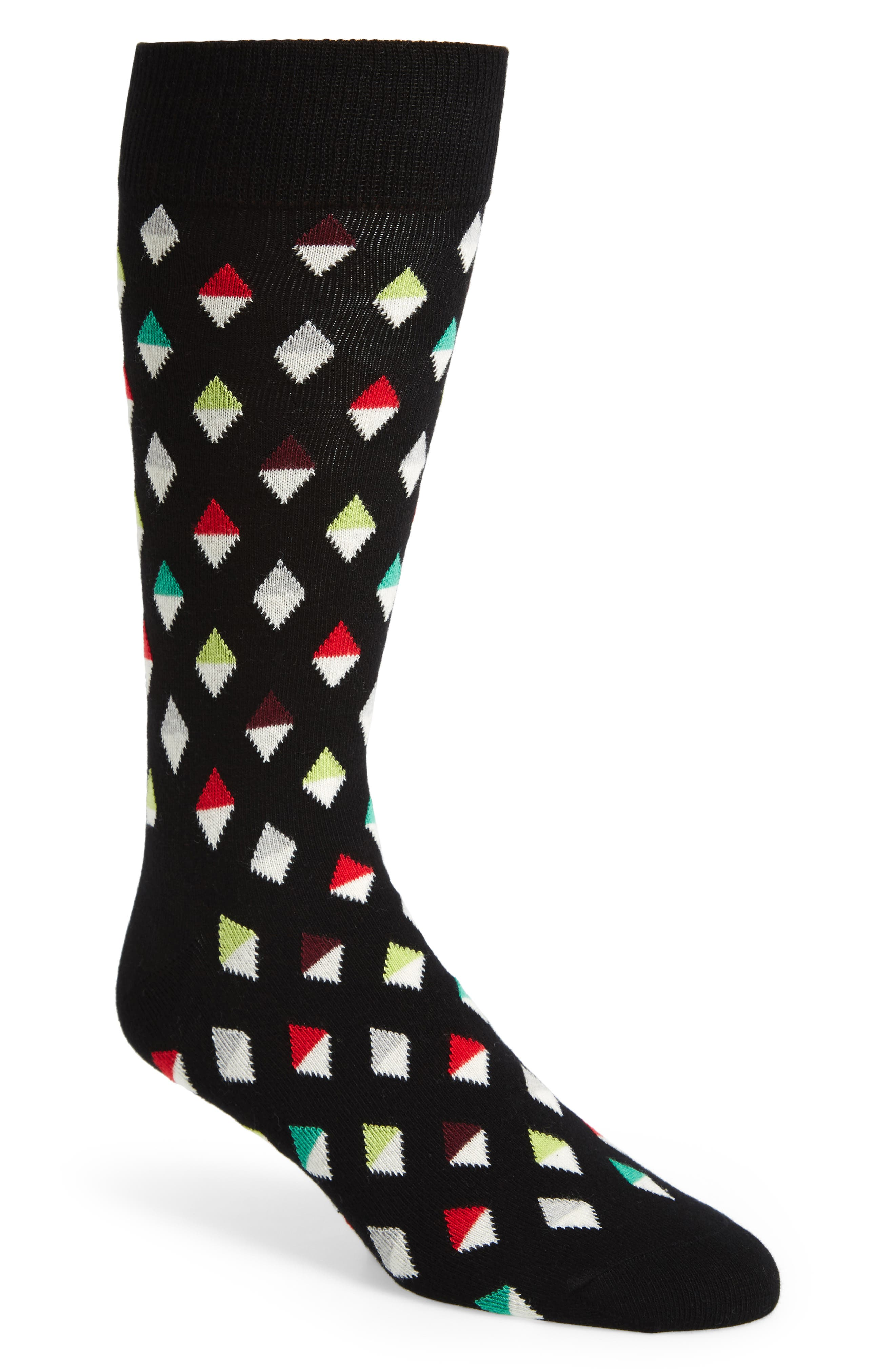 Diamond Socks,                         Main,                         color, 001