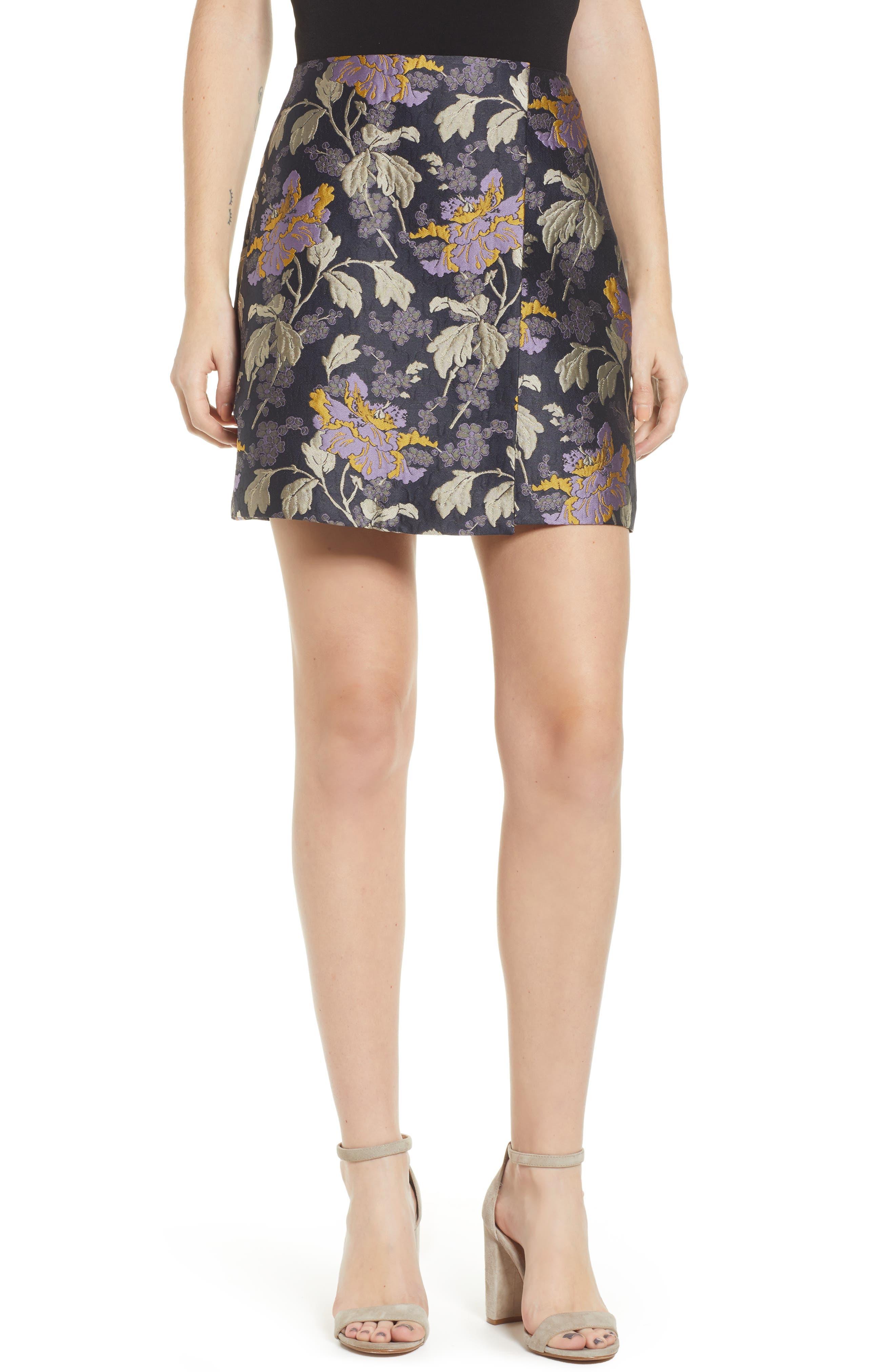 Vero Moda Freya Brocade Miniskirt, Blue