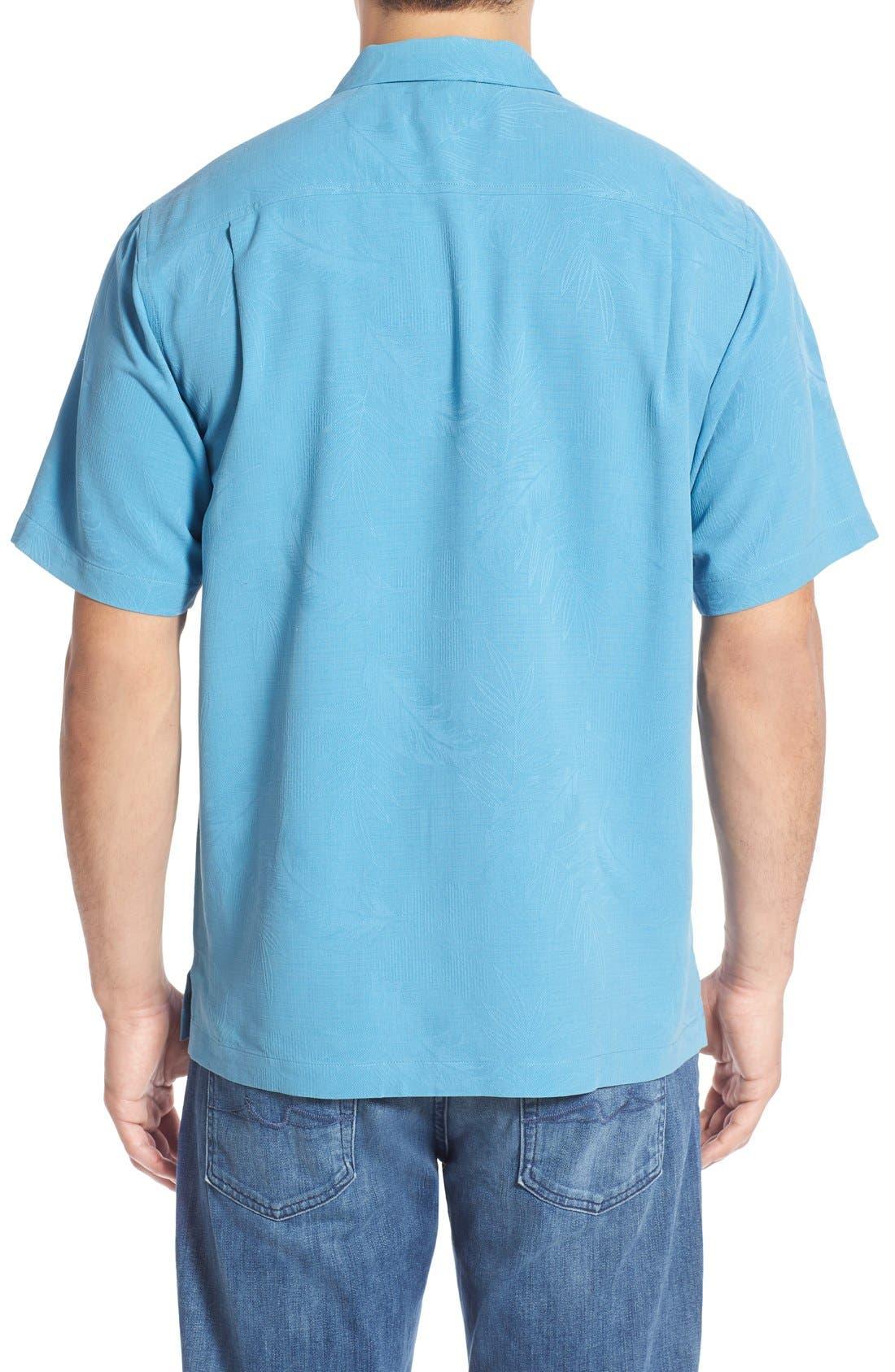 Rio Fronds Short Sleeve Silk Sport Shirt,                             Alternate thumbnail 26, color,