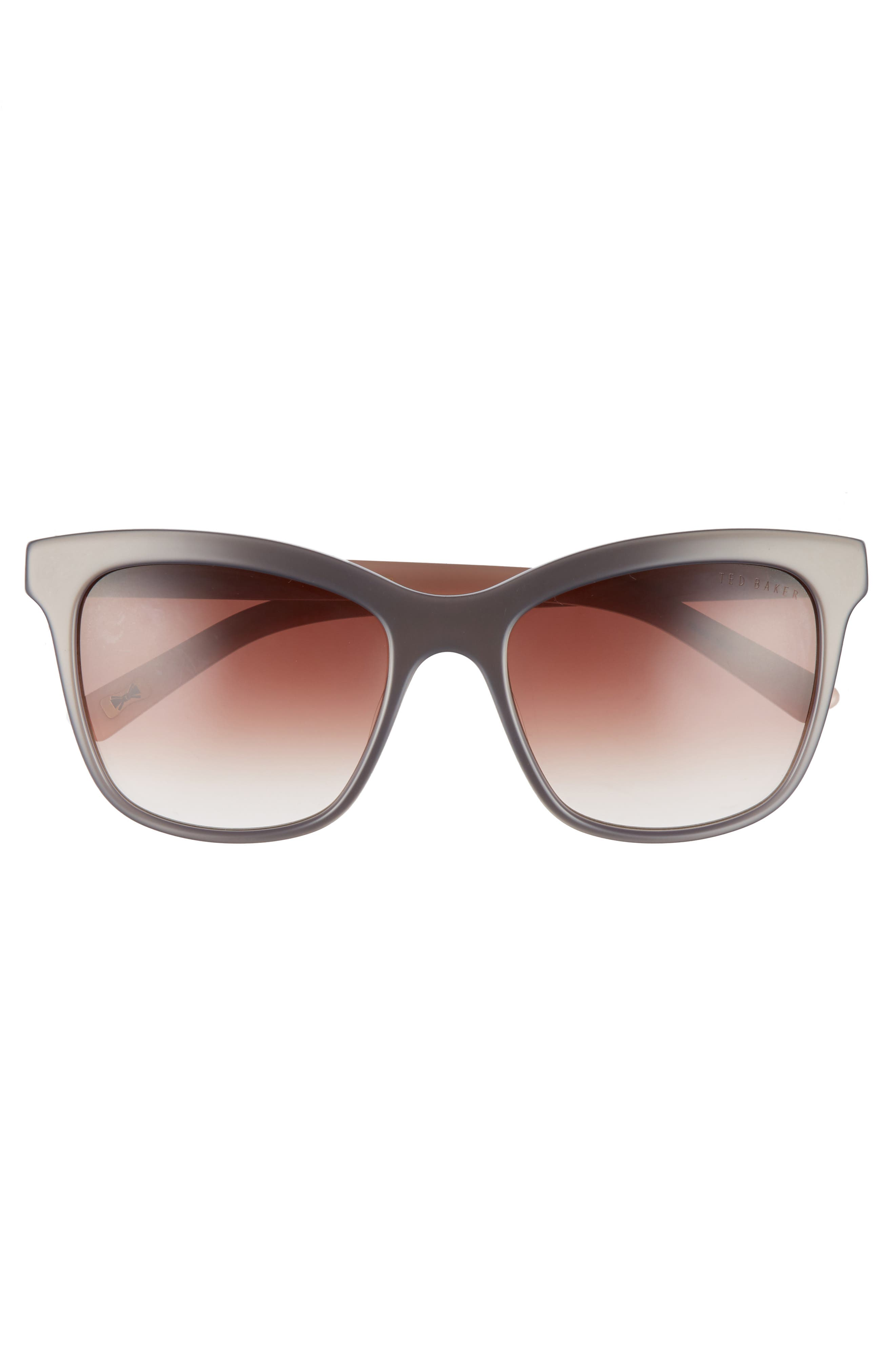 55mm Cat Eye Sunglasses,                             Alternate thumbnail 3, color,                             GREY