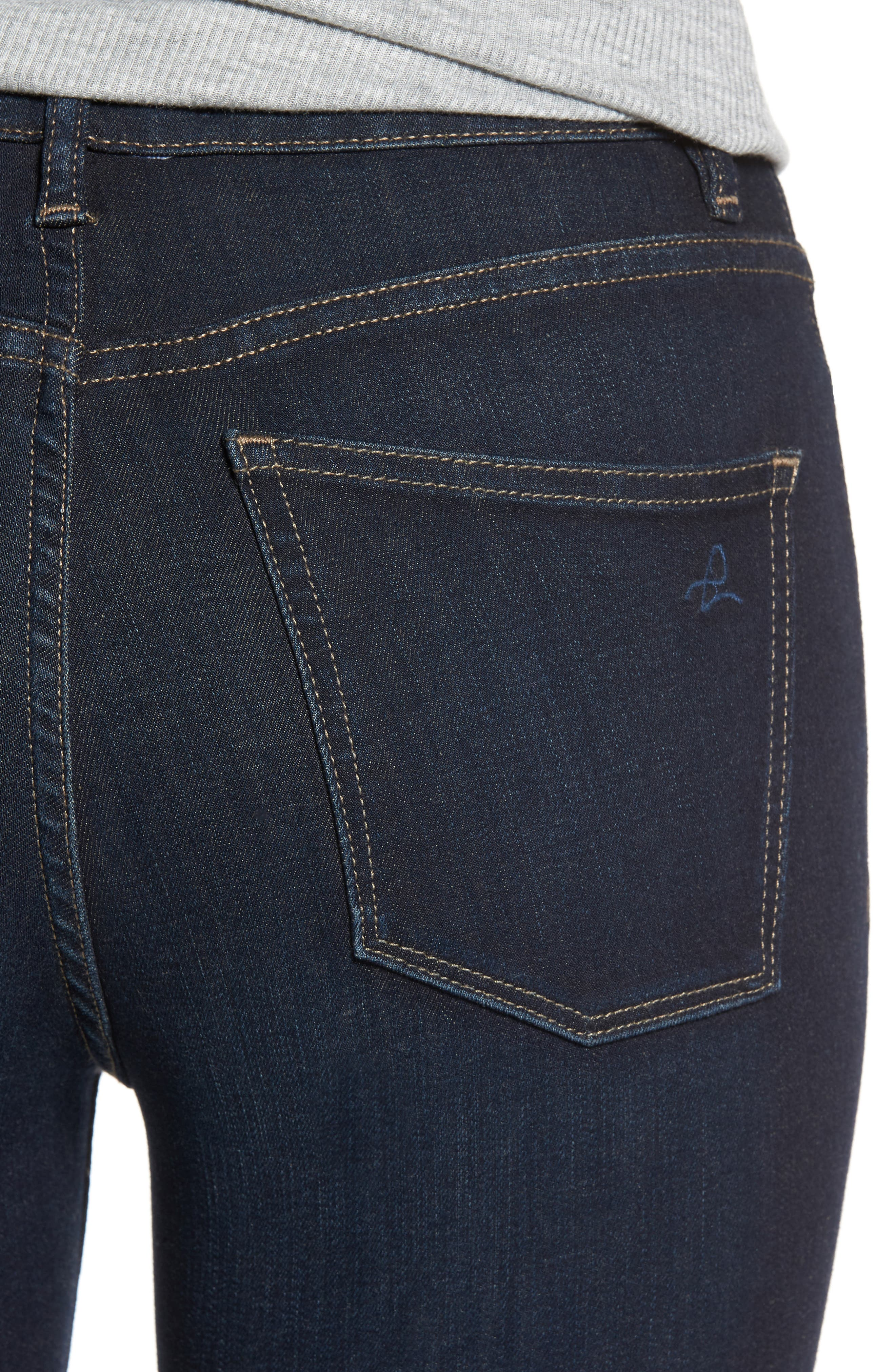 Chrissy High Waist Ankle Skinny Jeans,                             Alternate thumbnail 4, color,                             405
