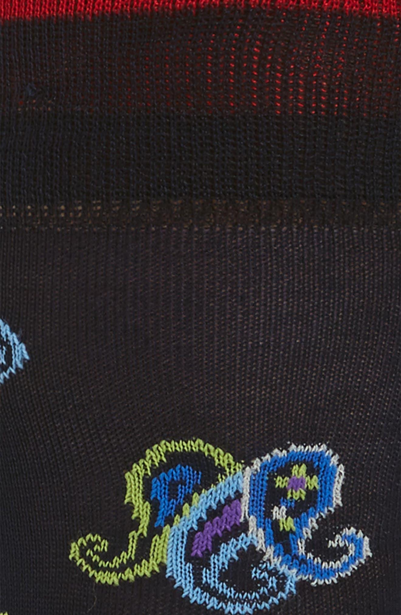 Paisley Crew Socks,                             Alternate thumbnail 2, color,                             410