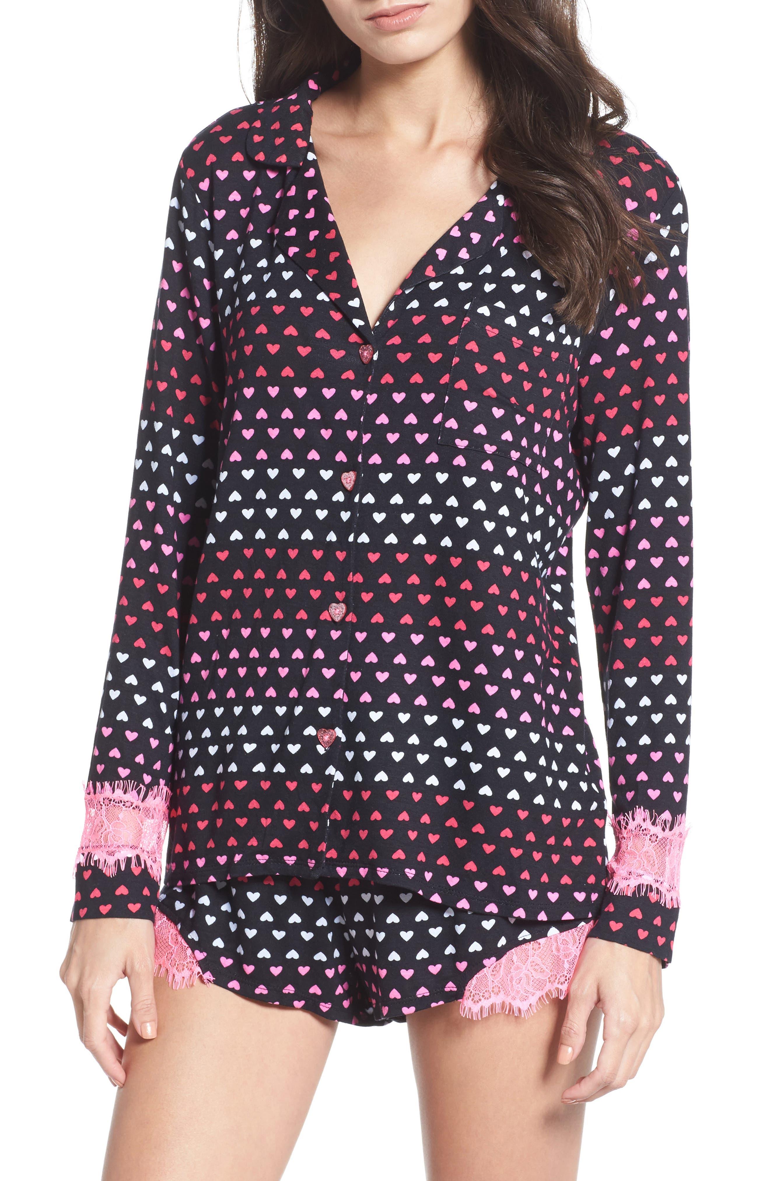 Notch Collar Short Pajamas,                             Main thumbnail 3, color,
