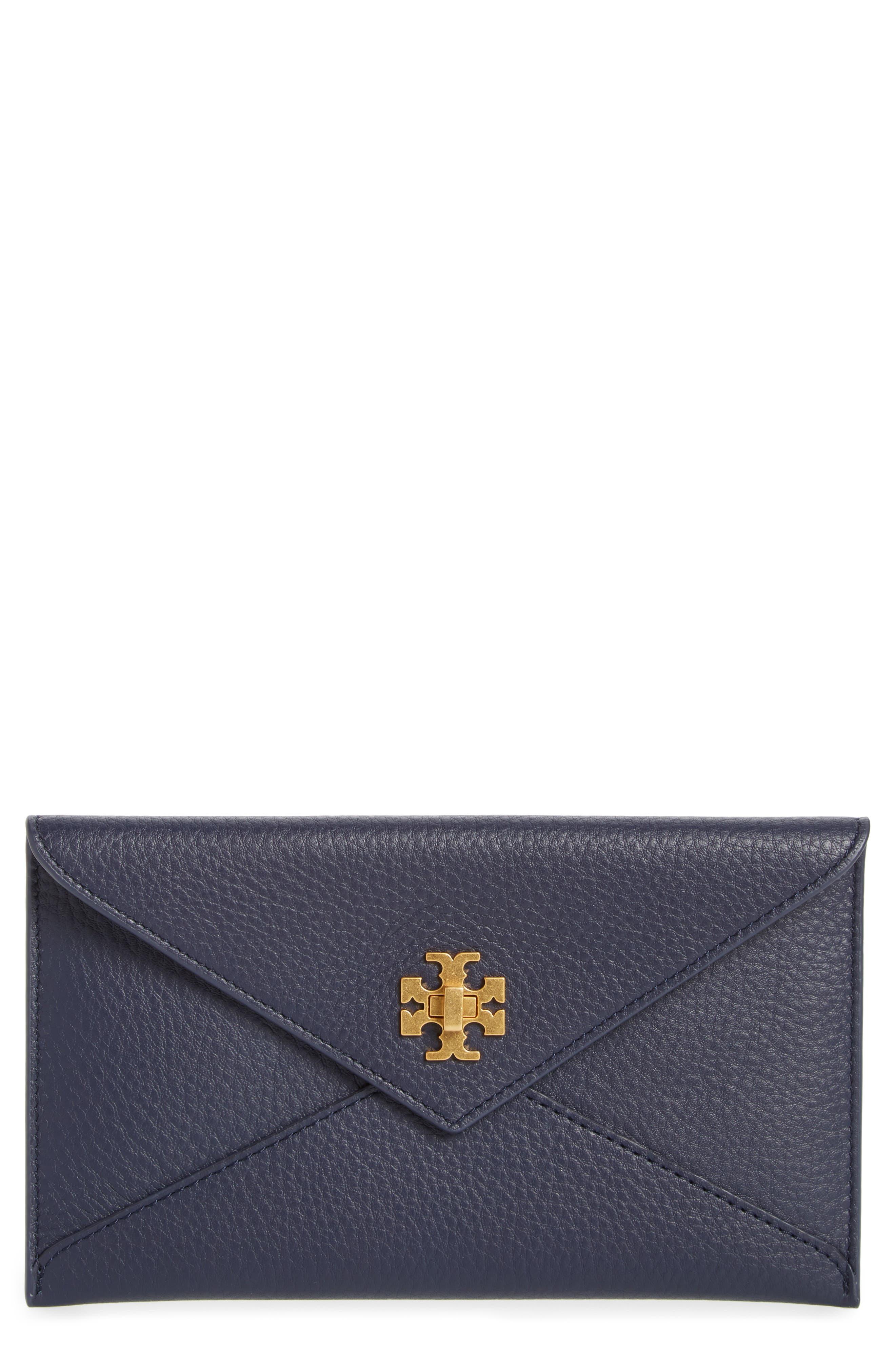 Leather Envelope Clutch,                         Main,                         color, 400