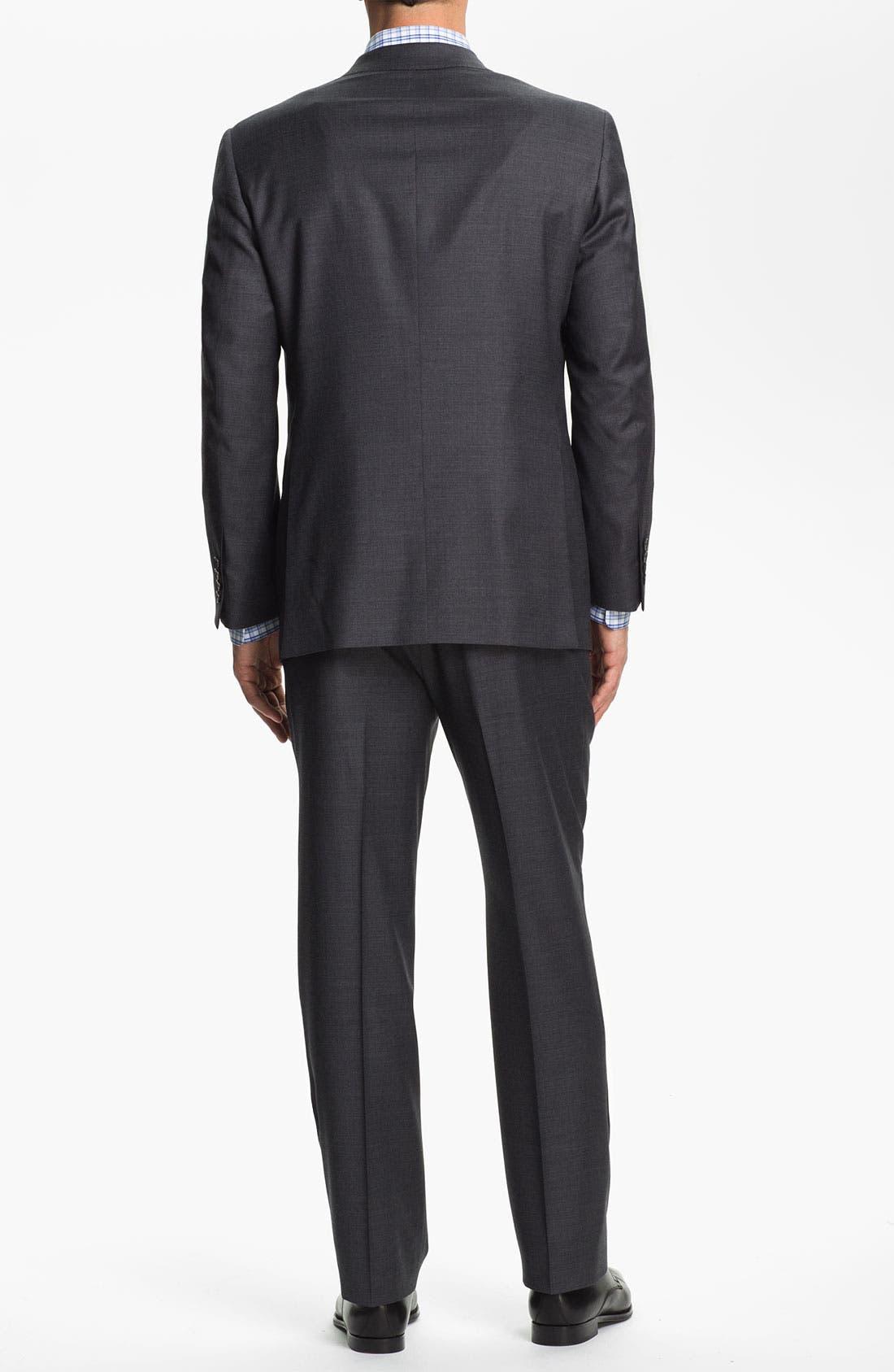 SAMUELSOHN,                             'Performance' Stretch Wool Suit,                             Alternate thumbnail 5, color,                             020