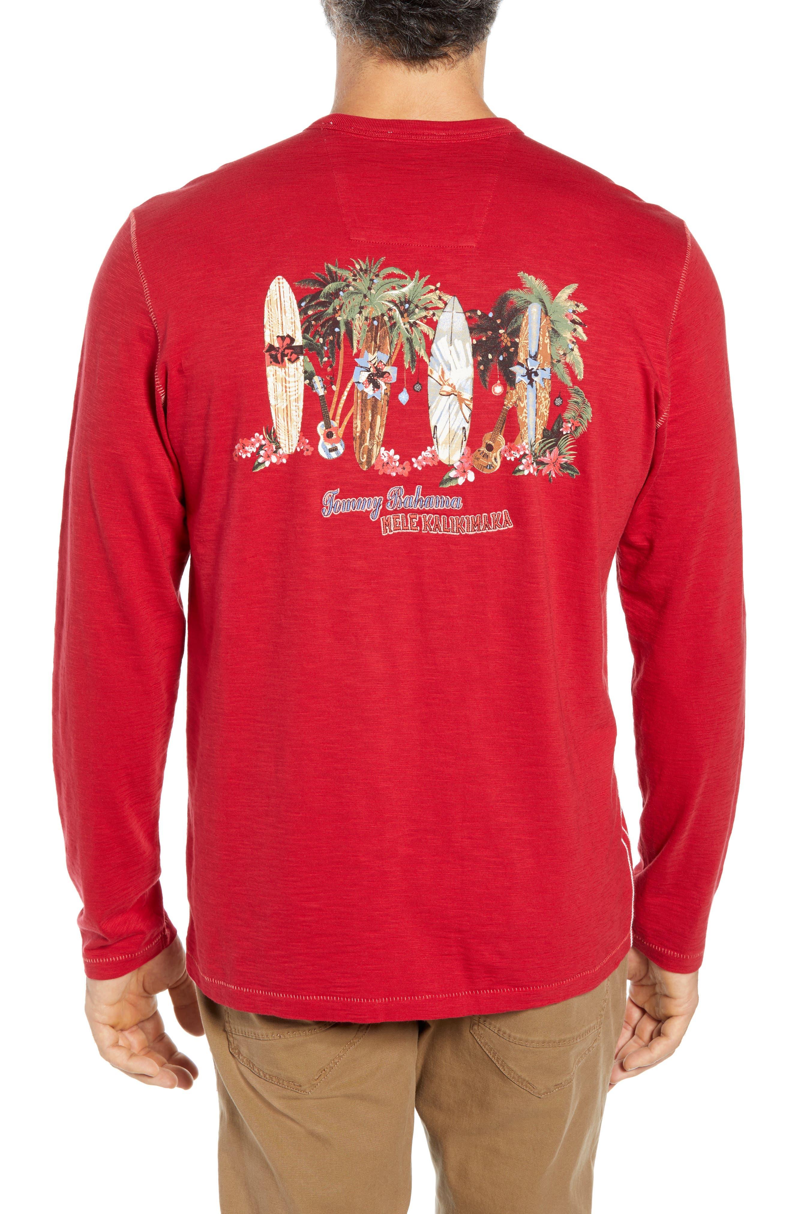 Mele Kalikimaka T-Shirt,                             Alternate thumbnail 2, color,                             SCOOTER RED