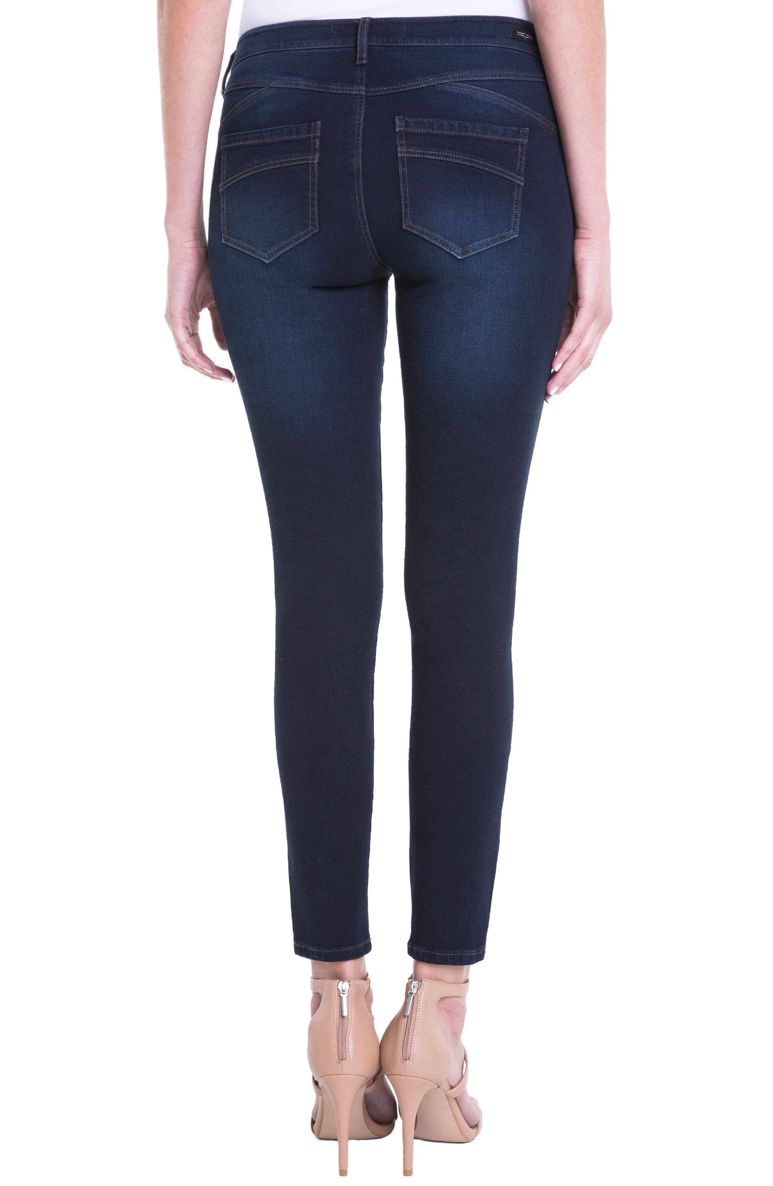 Jeans Company Piper Hugger Lift Sculpt Ankle Skinny Jeans,                             Alternate thumbnail 8, color,