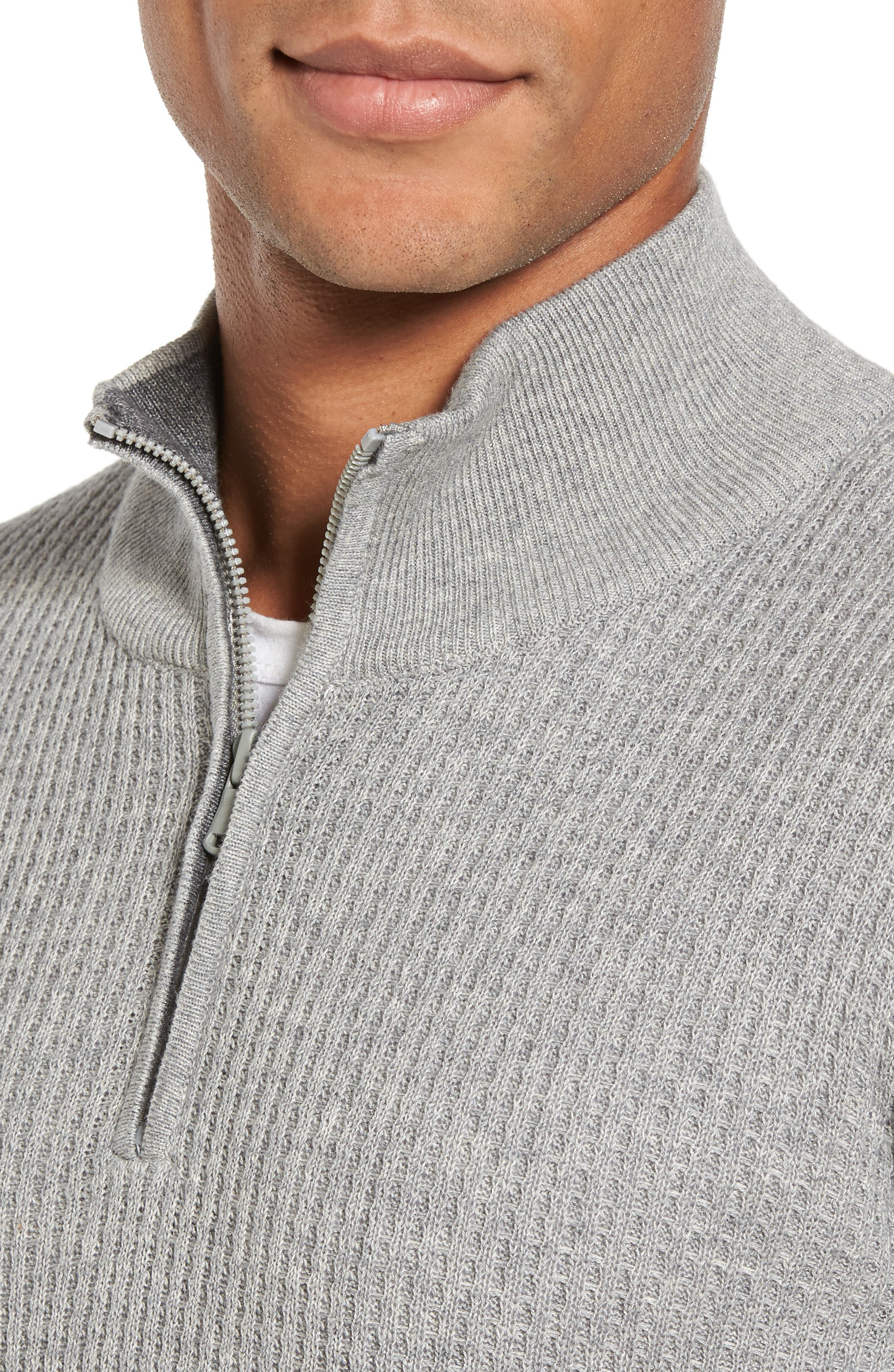 Higgins Quarter Zip Sweater,                             Alternate thumbnail 4, color,                             050
