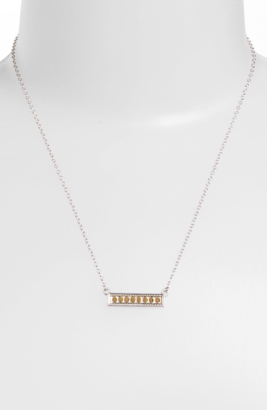 'Gili' Bar Pendant Necklace,                             Alternate thumbnail 6, color,                             GOLD/ SILVER