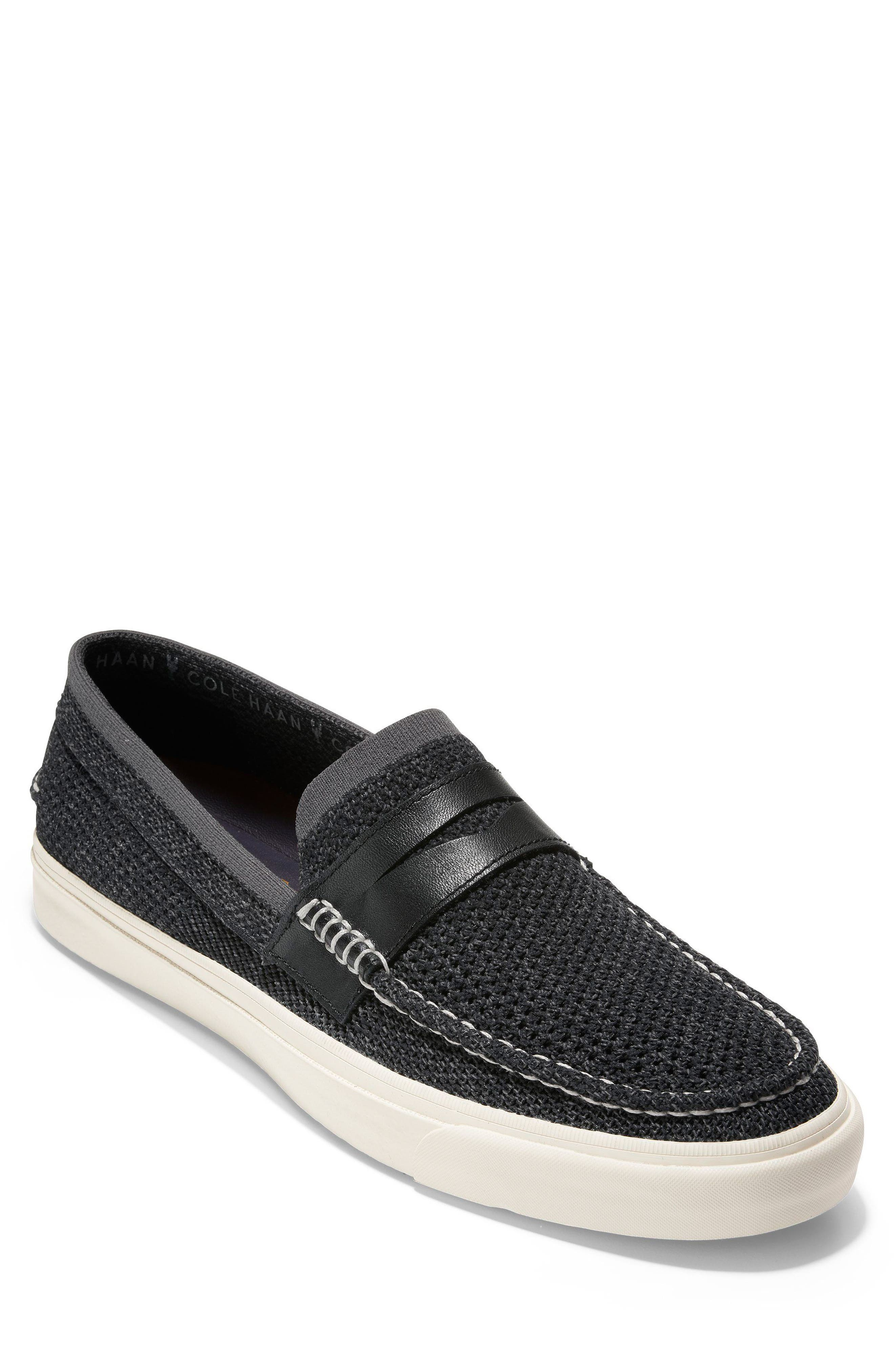 Pinch Weekend Stitch Penny Loafer,                             Main thumbnail 1, color,                             BLACK MAGNET