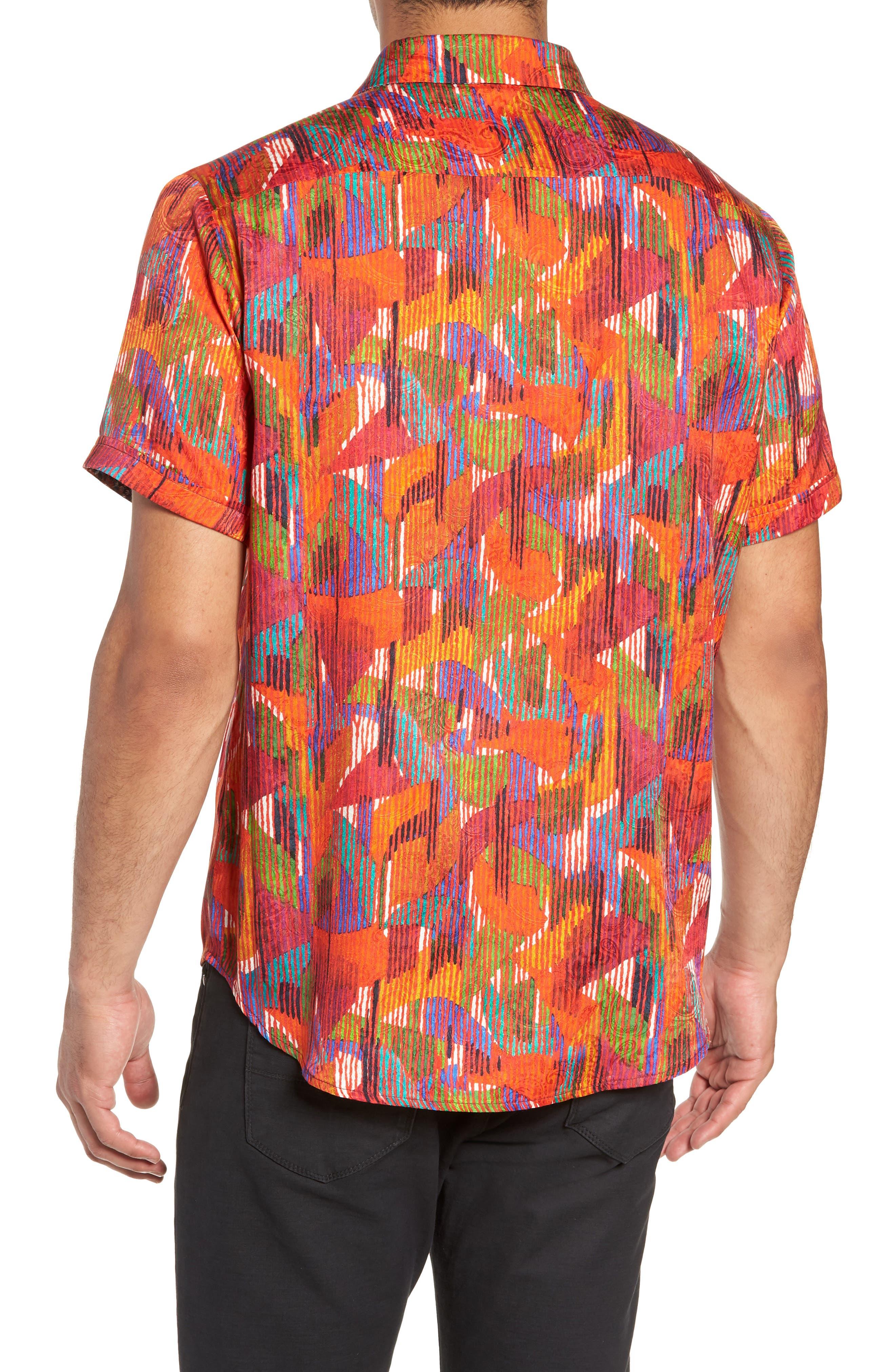 ROBERT GRAHAM,                             Gallagher Classic Fit Silk Blend Sport Shirt,                             Alternate thumbnail 3, color,                             600