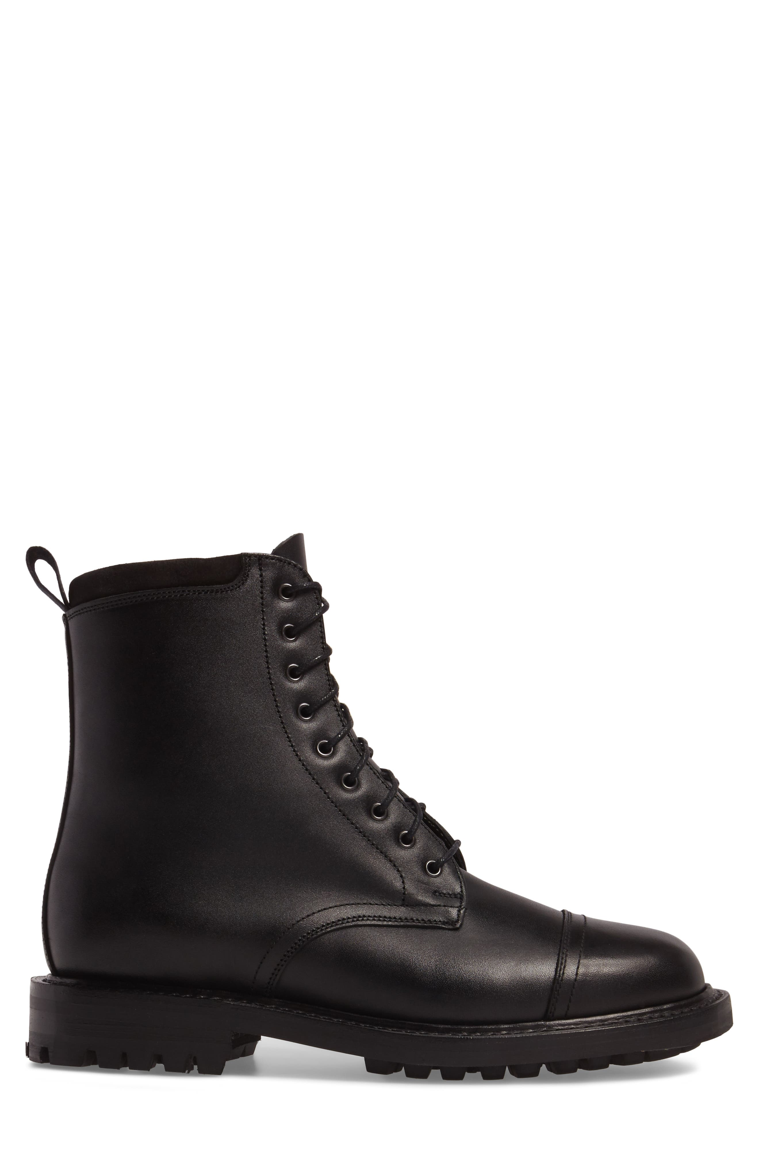 CLARKS<SUP>®</SUP>,                             Clarks Craftsmaster III Cap Toe Boot,                             Alternate thumbnail 3, color,                             BLACK LEATHER