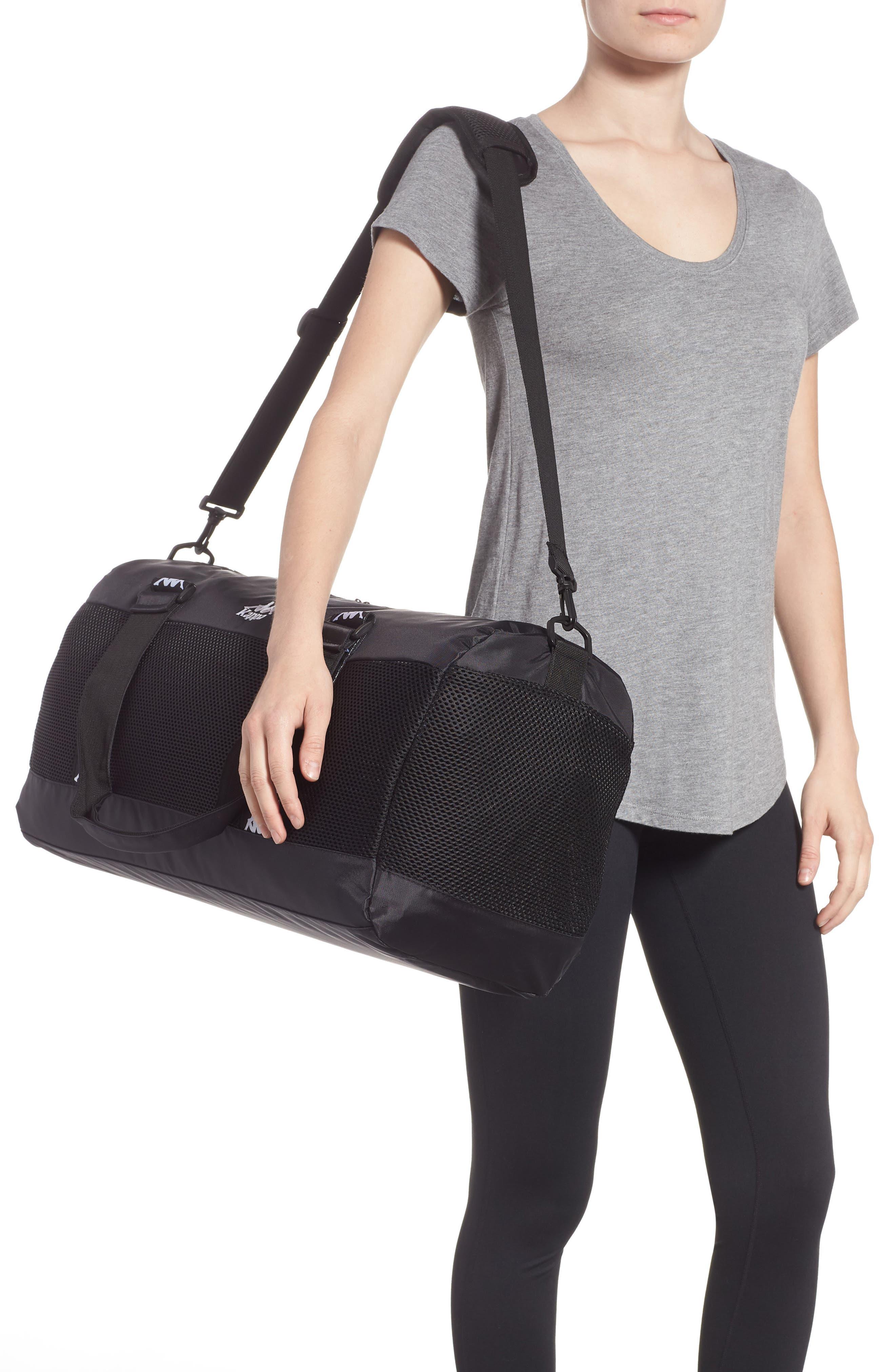 XL Athletic Duffel Bag,                             Alternate thumbnail 2, color,                             BLACK-WHITE