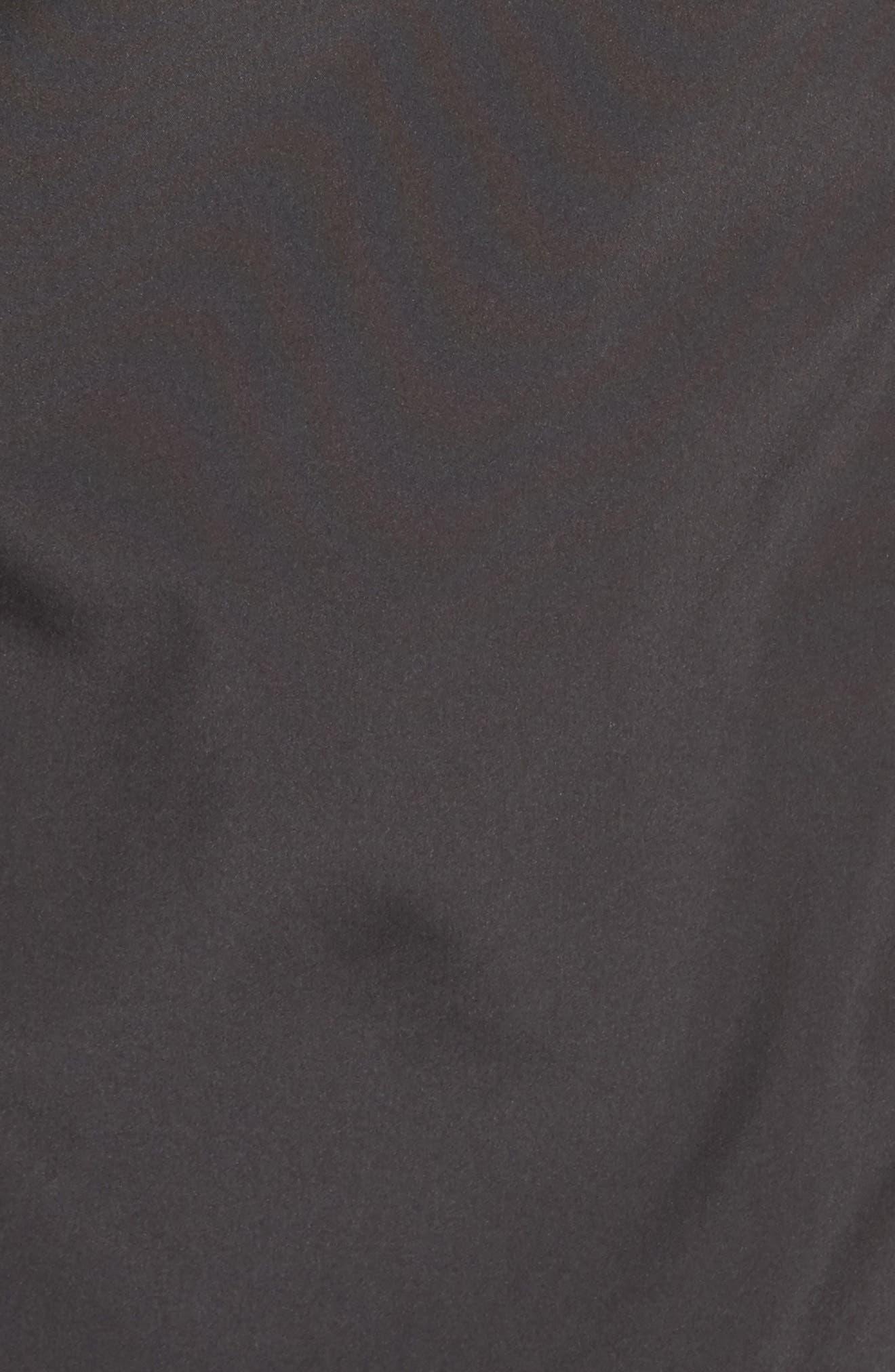 Storm Coat with Faux Fur Trim & Lining,                             Alternate thumbnail 6, color,                             001