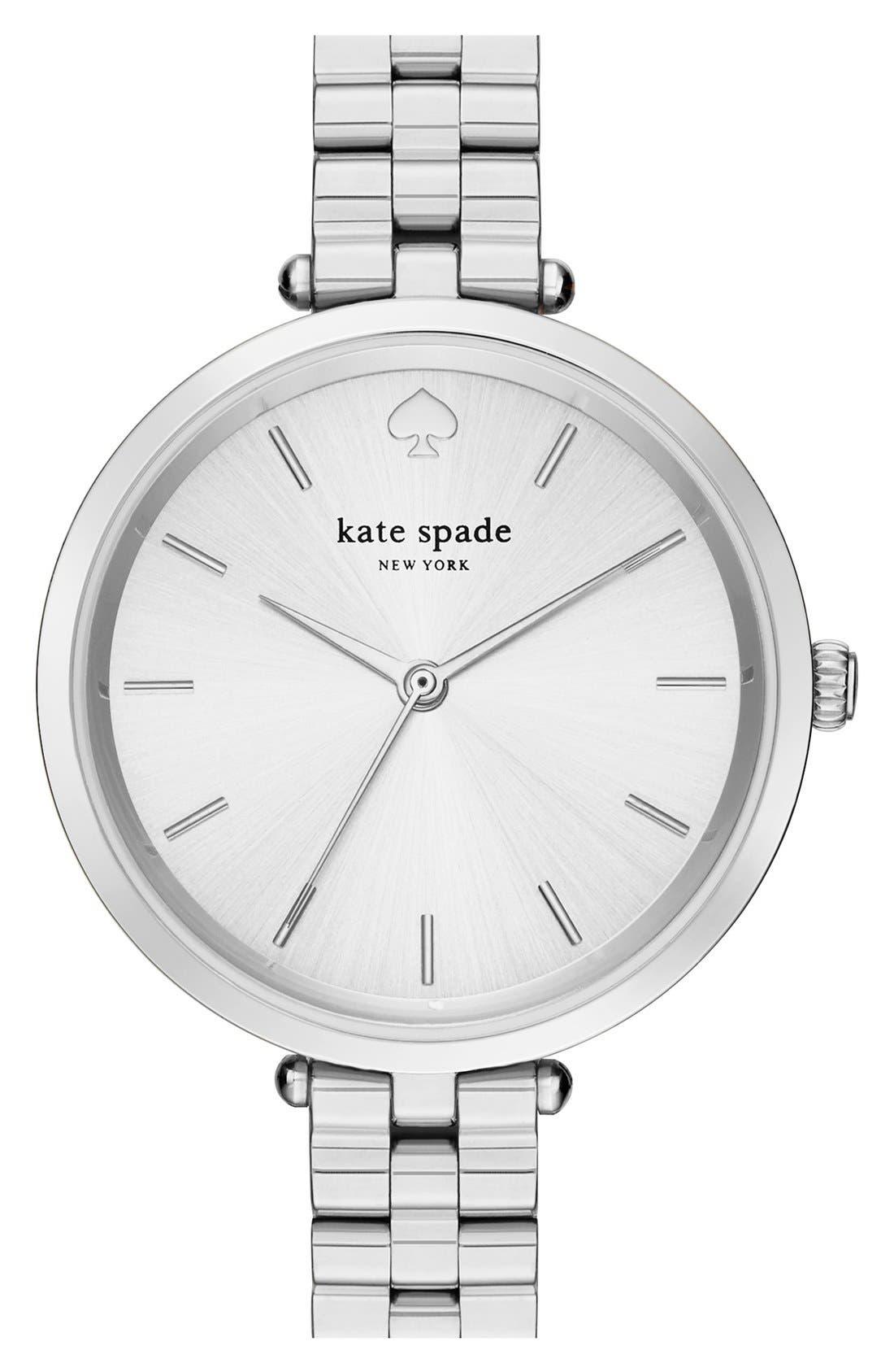 holland bracelet watch, 34mm,                             Main thumbnail 1, color,                             SILVER
