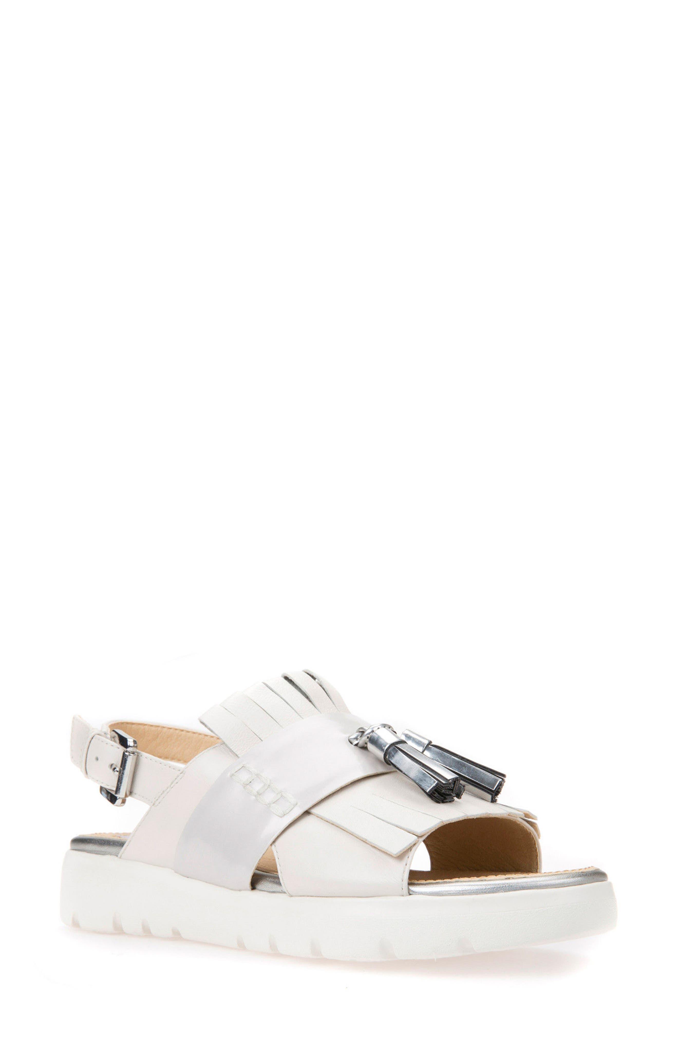 Amalitha Platform Sandal,                             Main thumbnail 1, color,                             OFF WHITE LEATHER
