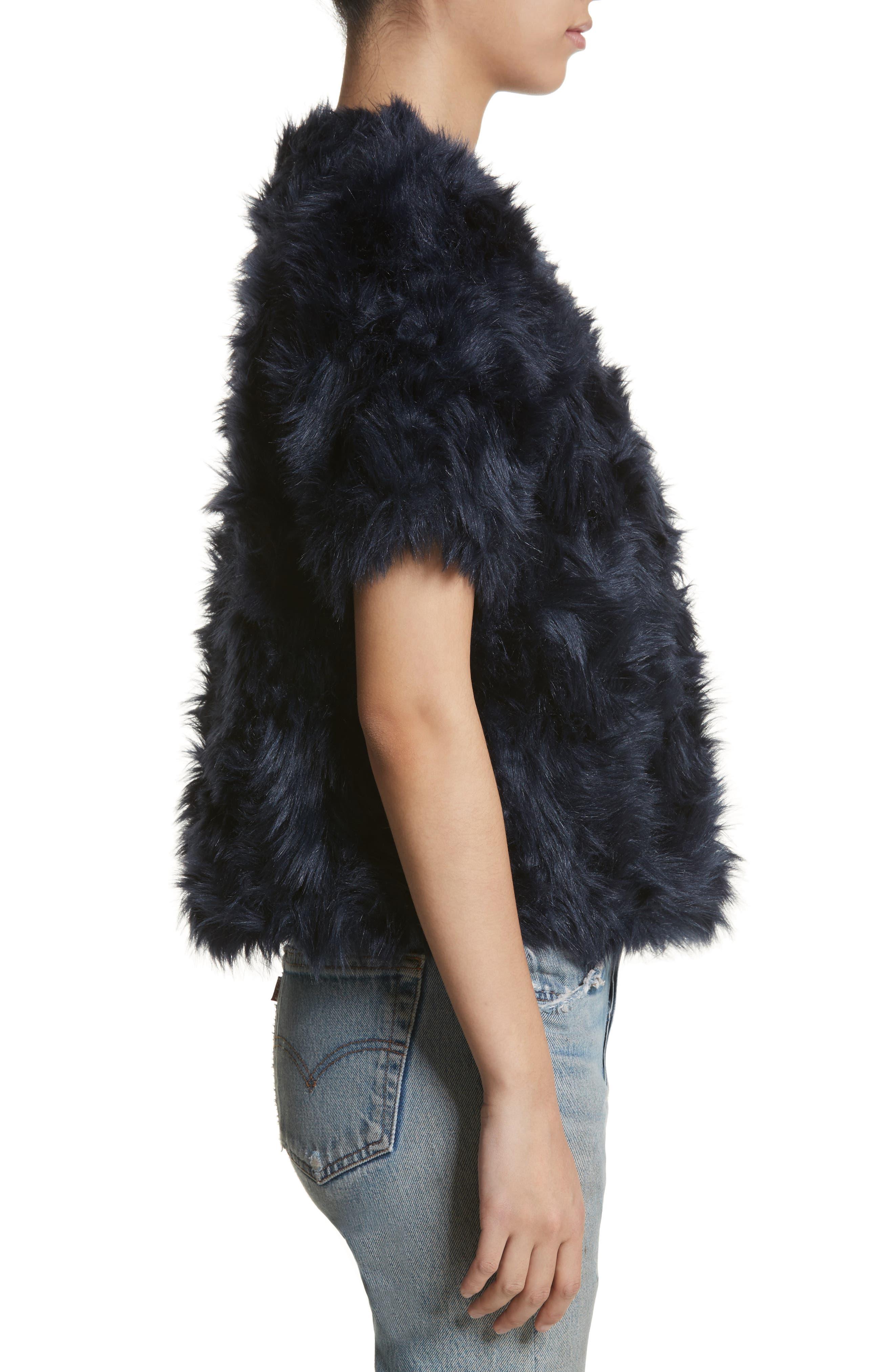 Sofia Faux Fur Jacket,                             Alternate thumbnail 3, color,                             400