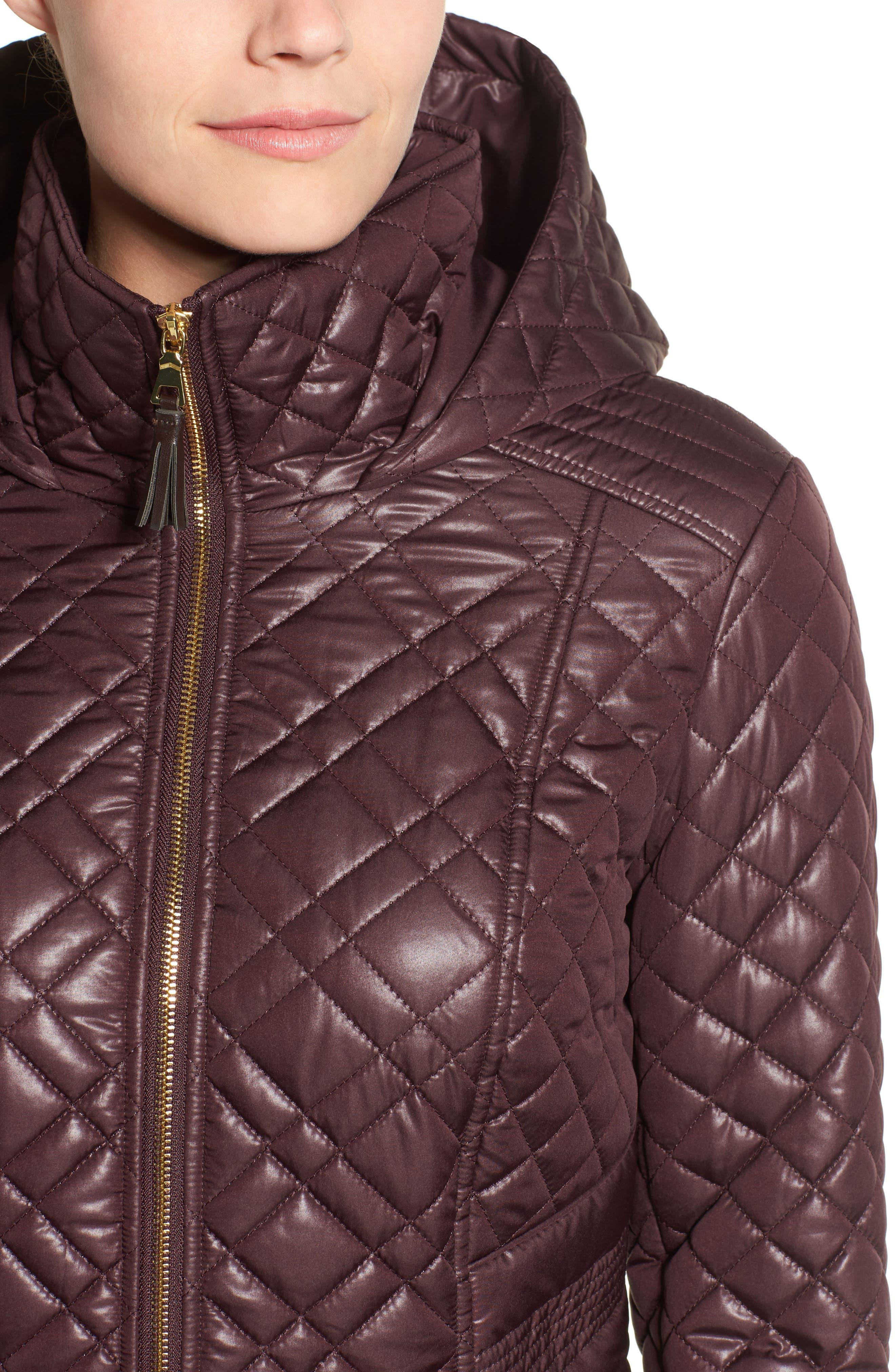 Tassel Detail Hooded Mix Quilt Coat,                             Alternate thumbnail 17, color,