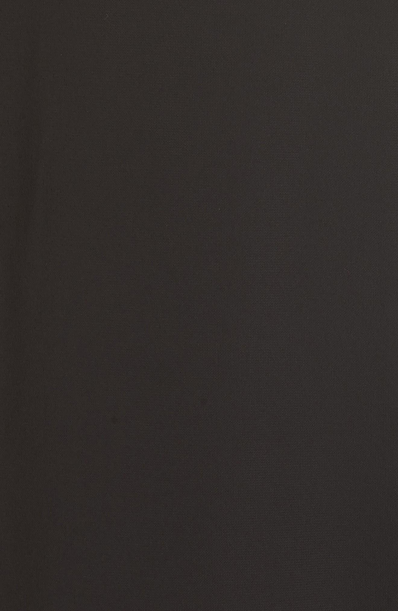Cascade Sleeve Sheath Dress,                             Alternate thumbnail 5, color,                             001