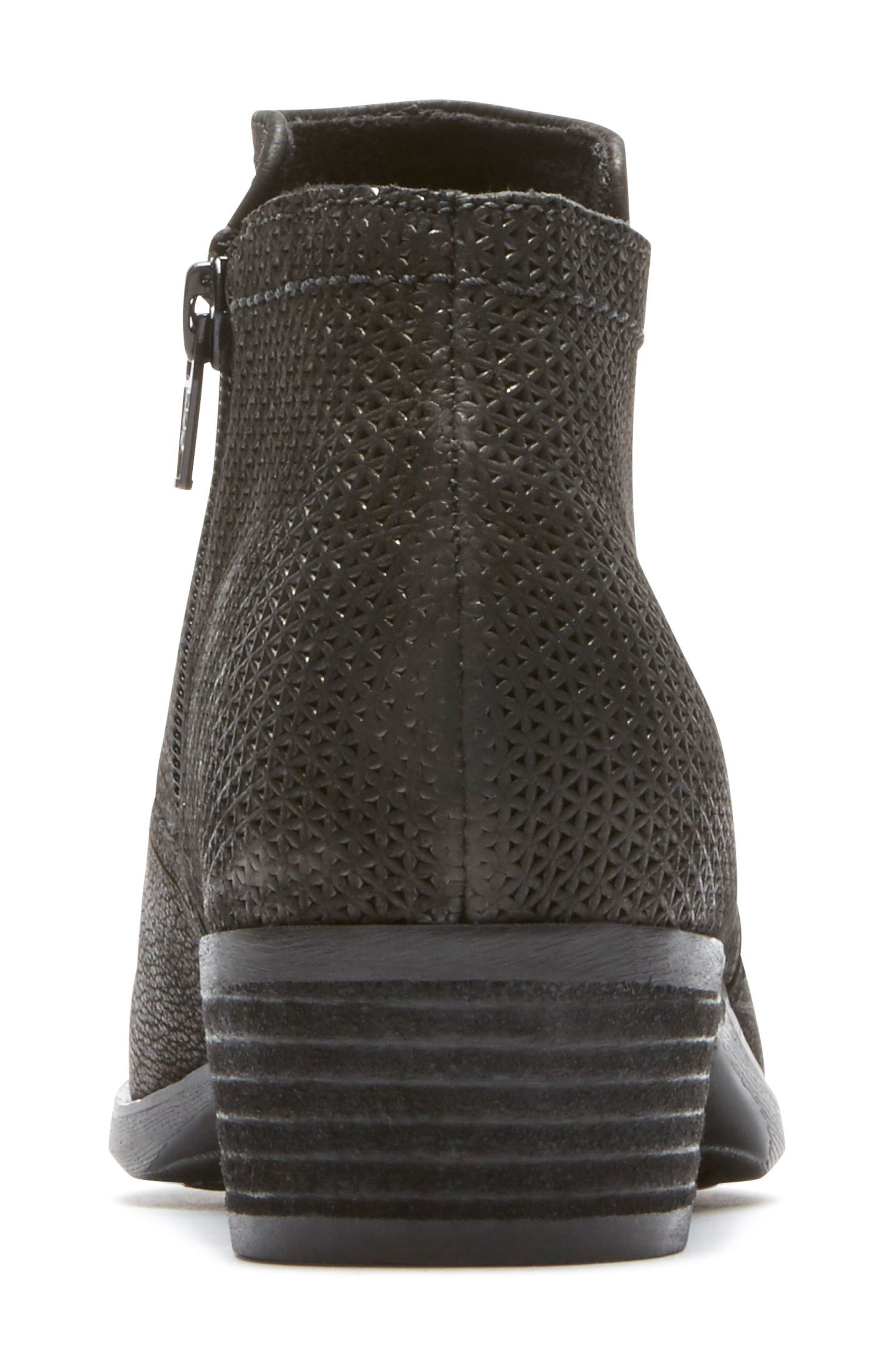 ROCKPORT,                             Vanna Strappy Bootie,                             Alternate thumbnail 8, color,                             BLACK NUBUCK
