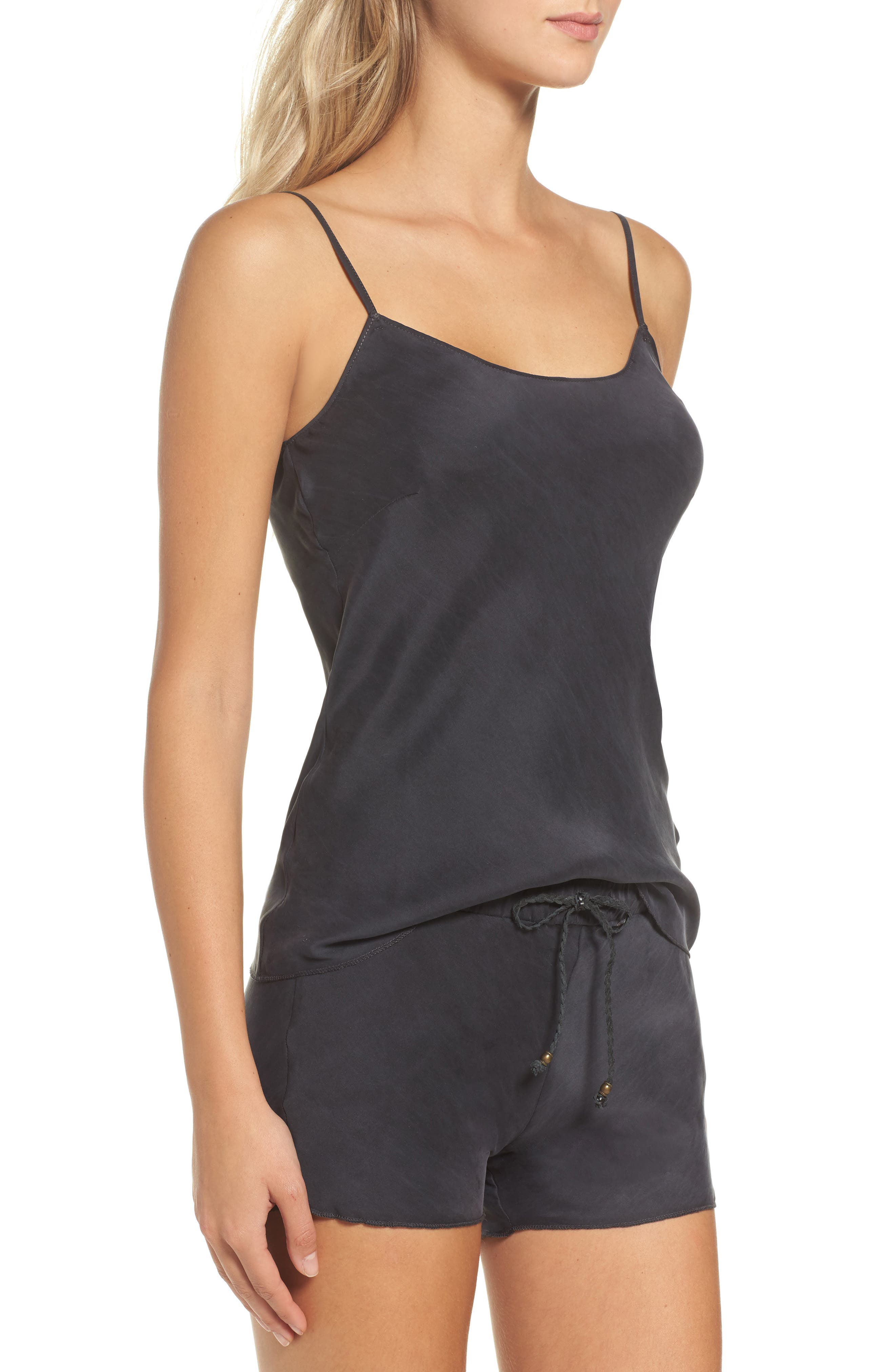 Silk Camisole,                             Alternate thumbnail 3, color,                             001
