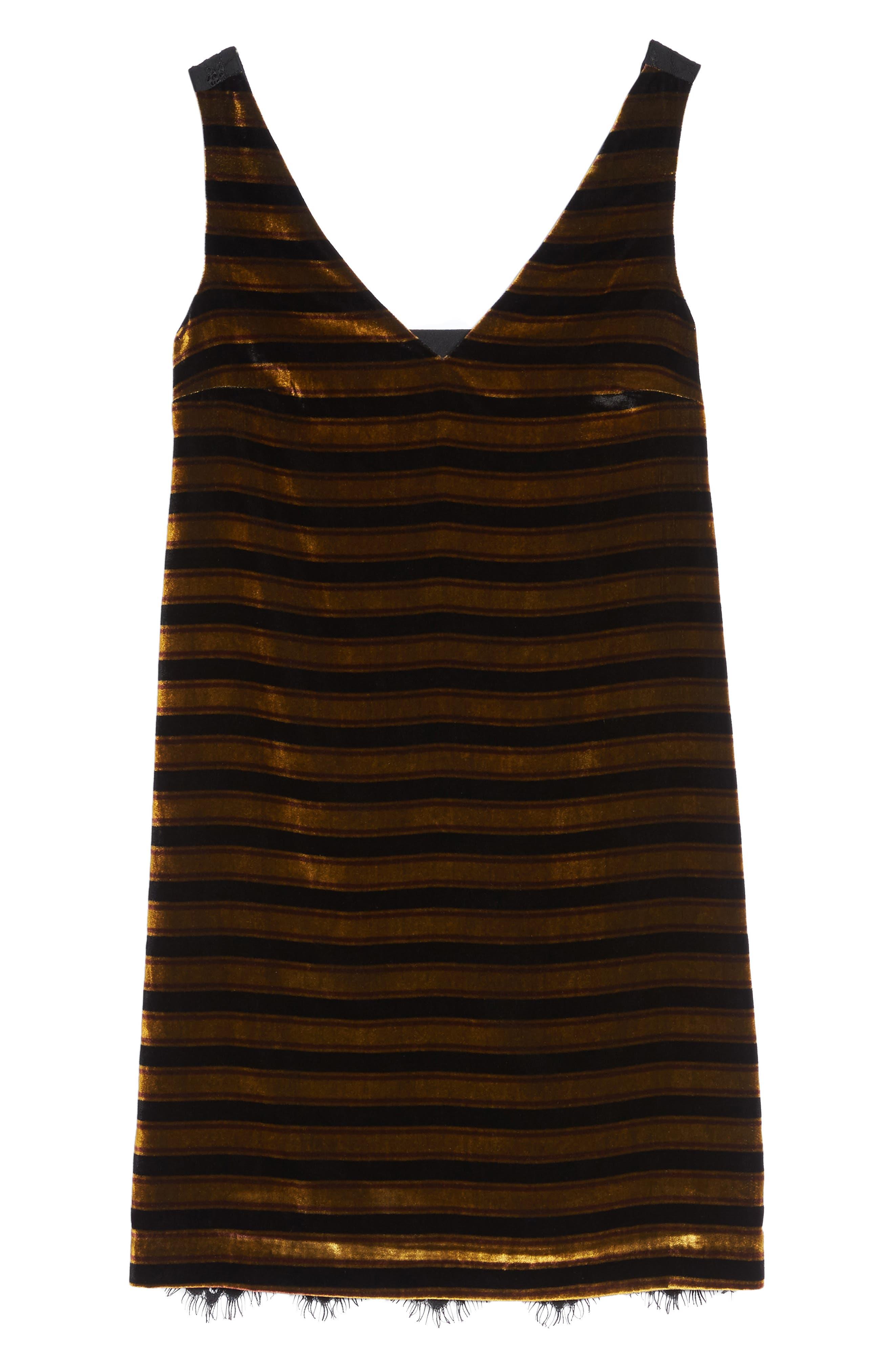Emma Stripe Dress,                             Alternate thumbnail 6, color,                             015