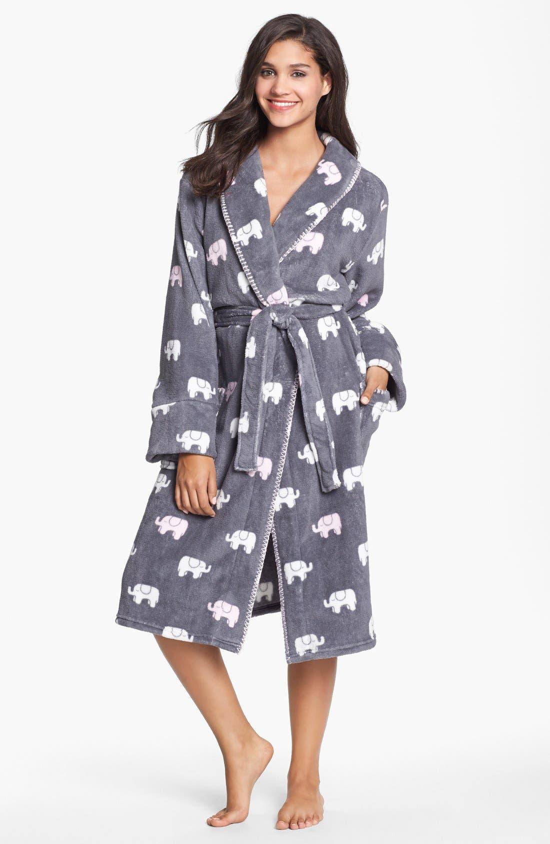Plush Robe,                         Main,                         color, 020