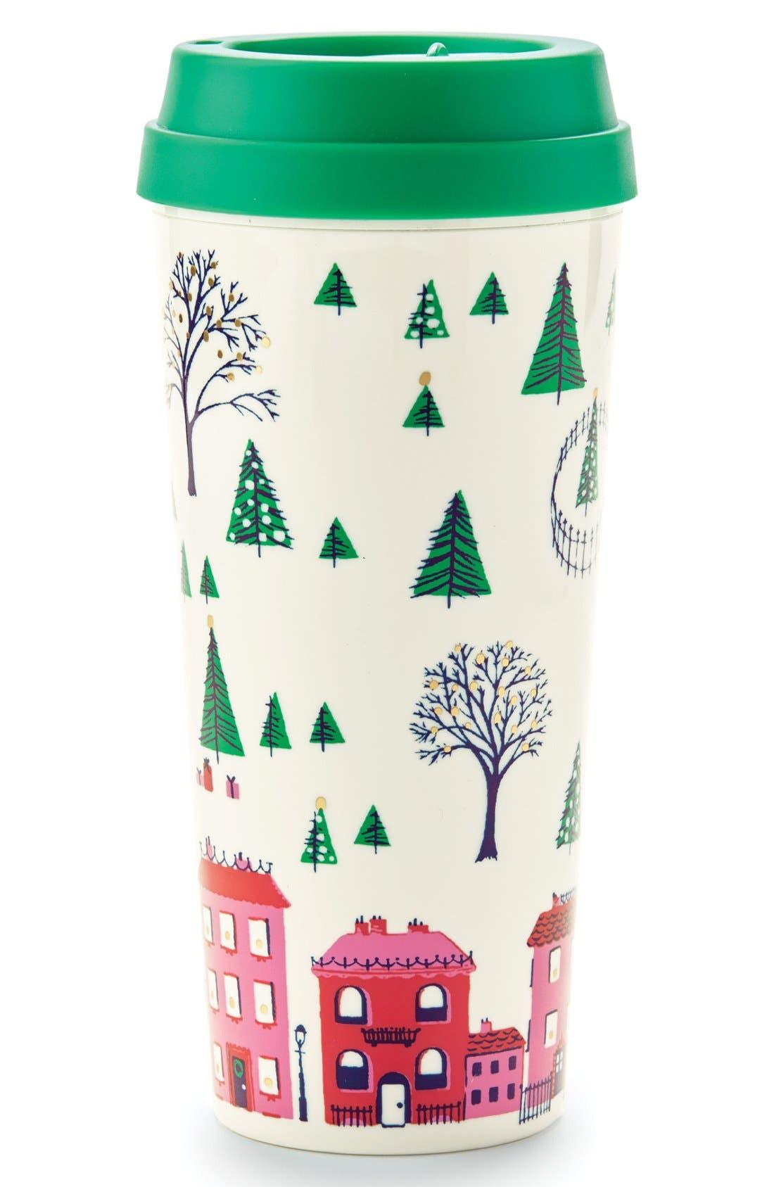 holiday village thermal mug,                             Main thumbnail 2, color,