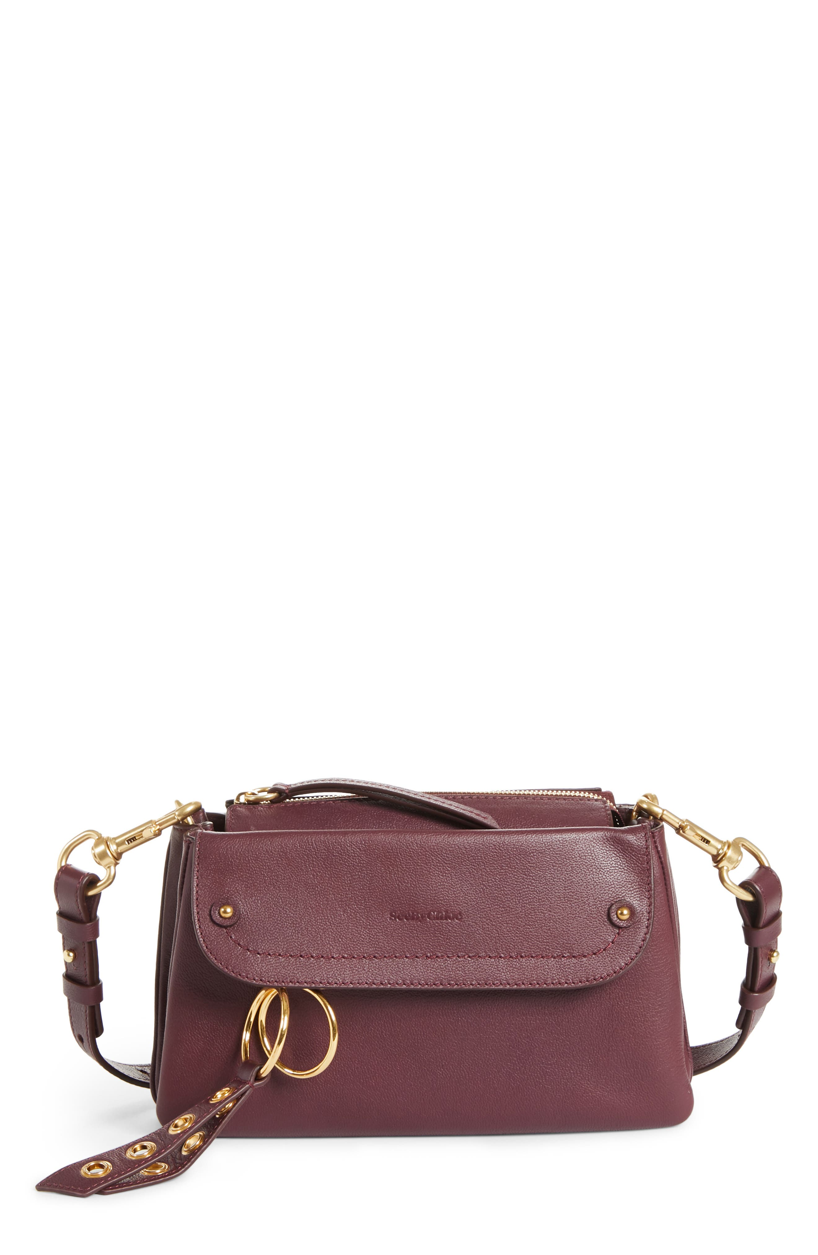 See By Chloe Phill Leather Crossbody Bag - Purple