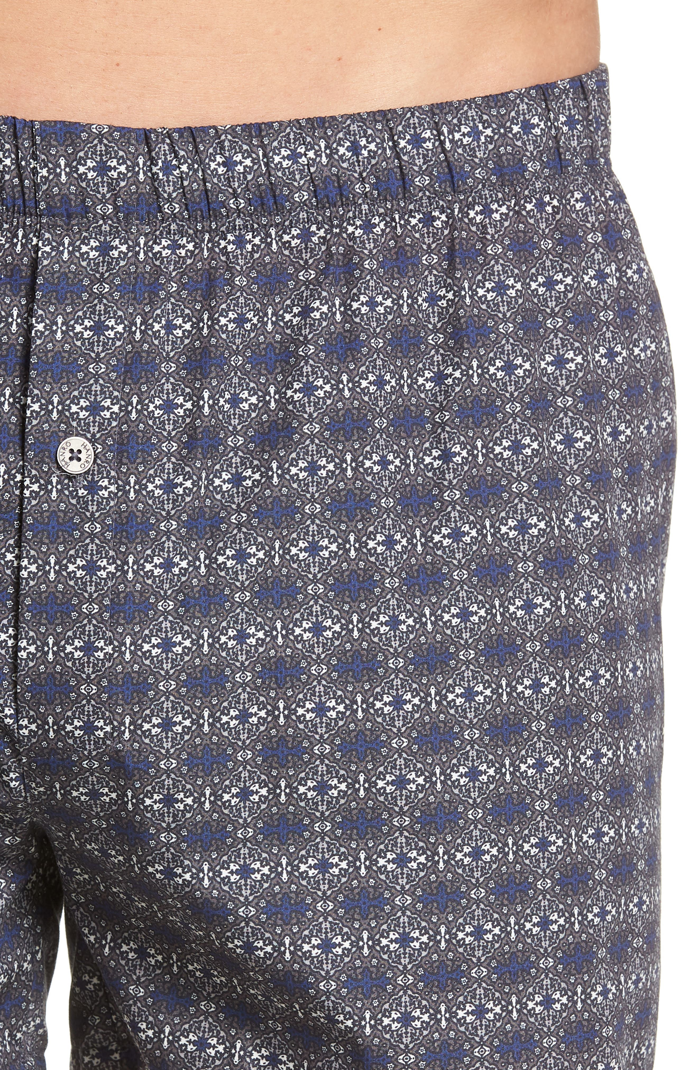 2-Pack Fancy Woven Boxers,                             Alternate thumbnail 5, color,                             MINIMAL ORNAMENT/ ROYAL BLUE