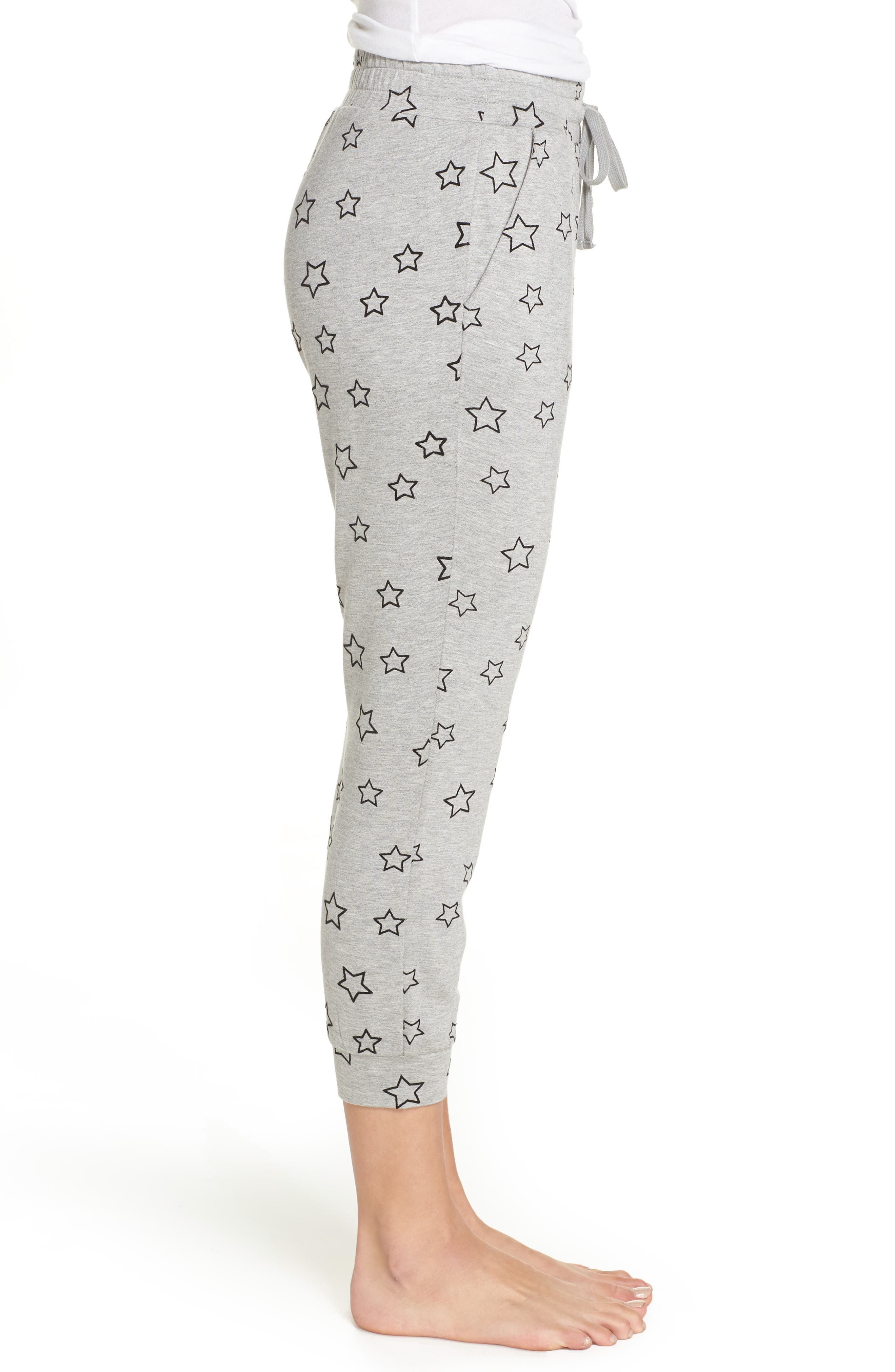 Seeing Stars Lounge Jogger Pants,                             Alternate thumbnail 3, color,                             HEATHER GREY
