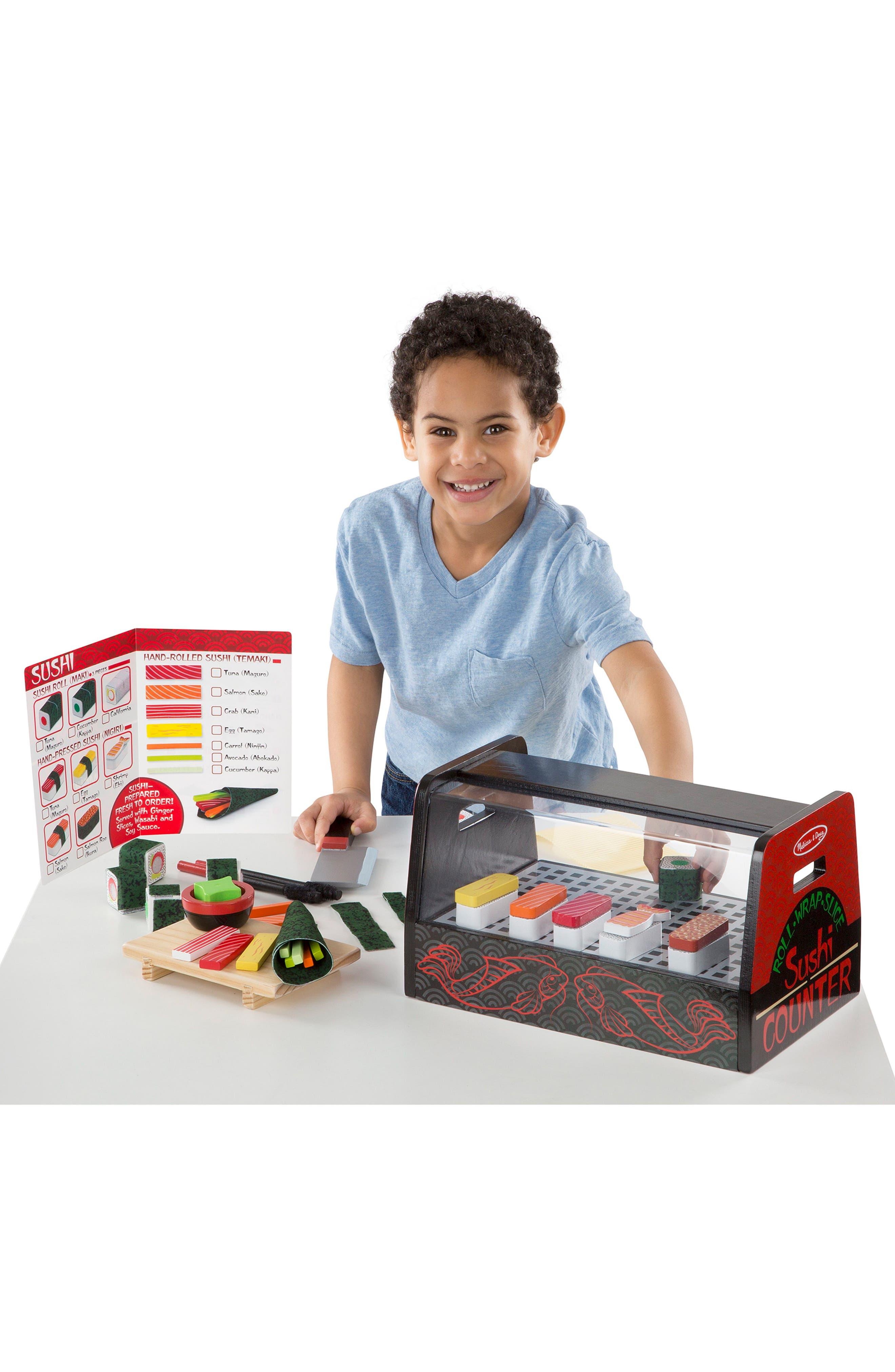 46-Piece Roll Wrap Slice Sushi Making Play Set,                             Alternate thumbnail 8, color,                             MULTI