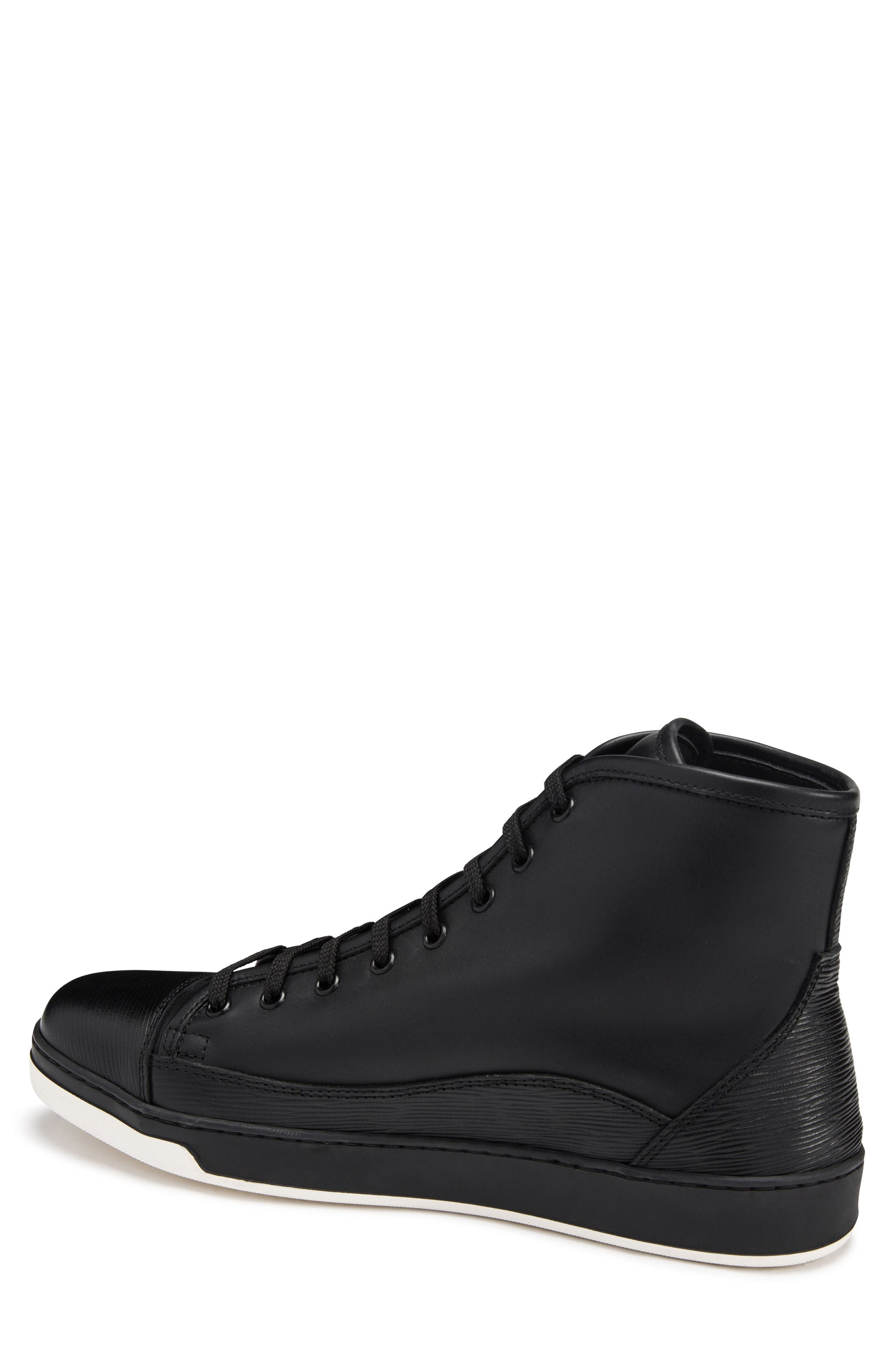 Livorno High Top Sneaker,                             Alternate thumbnail 2, color,                             NERO