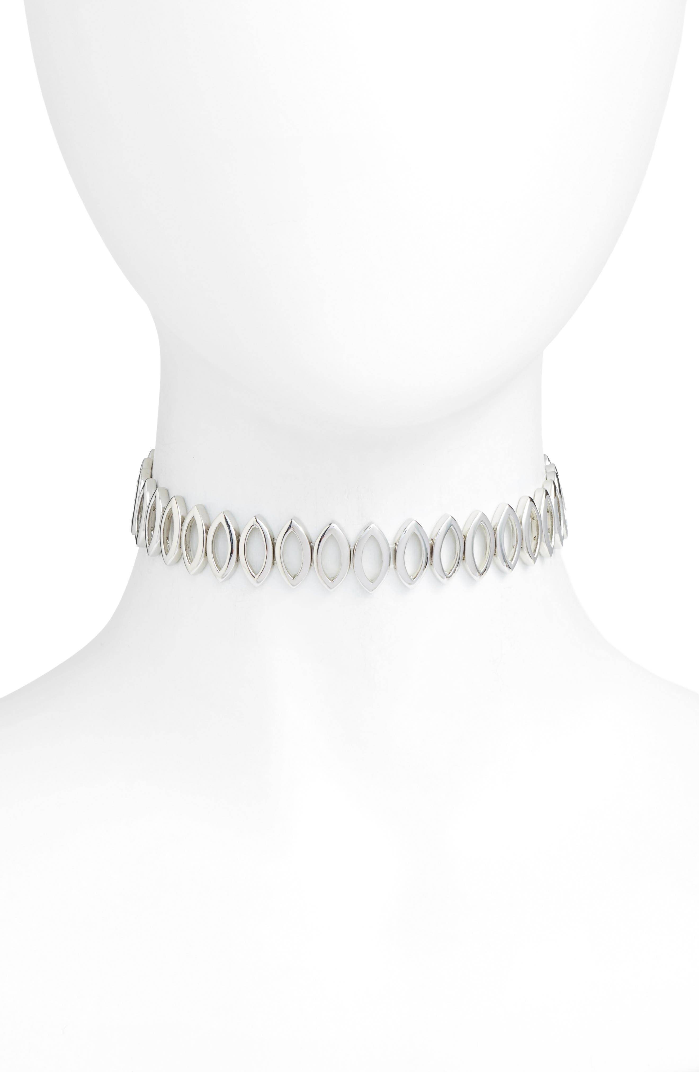 Navette Choker Necklace,                         Main,                         color, 040