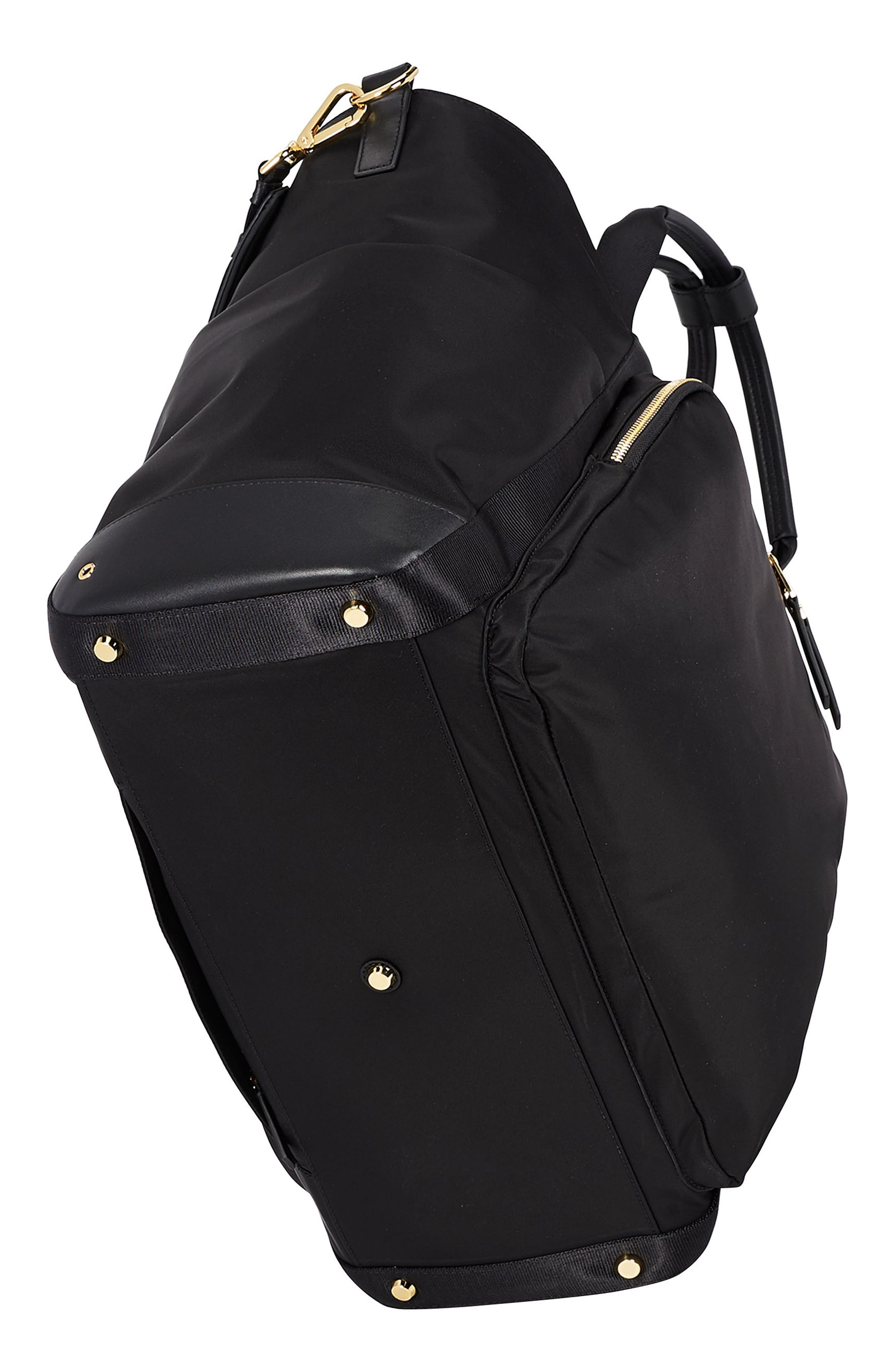 Voyaguer - Madrid Nylon Duffel Bag,                             Alternate thumbnail 4, color,                             BLACK
