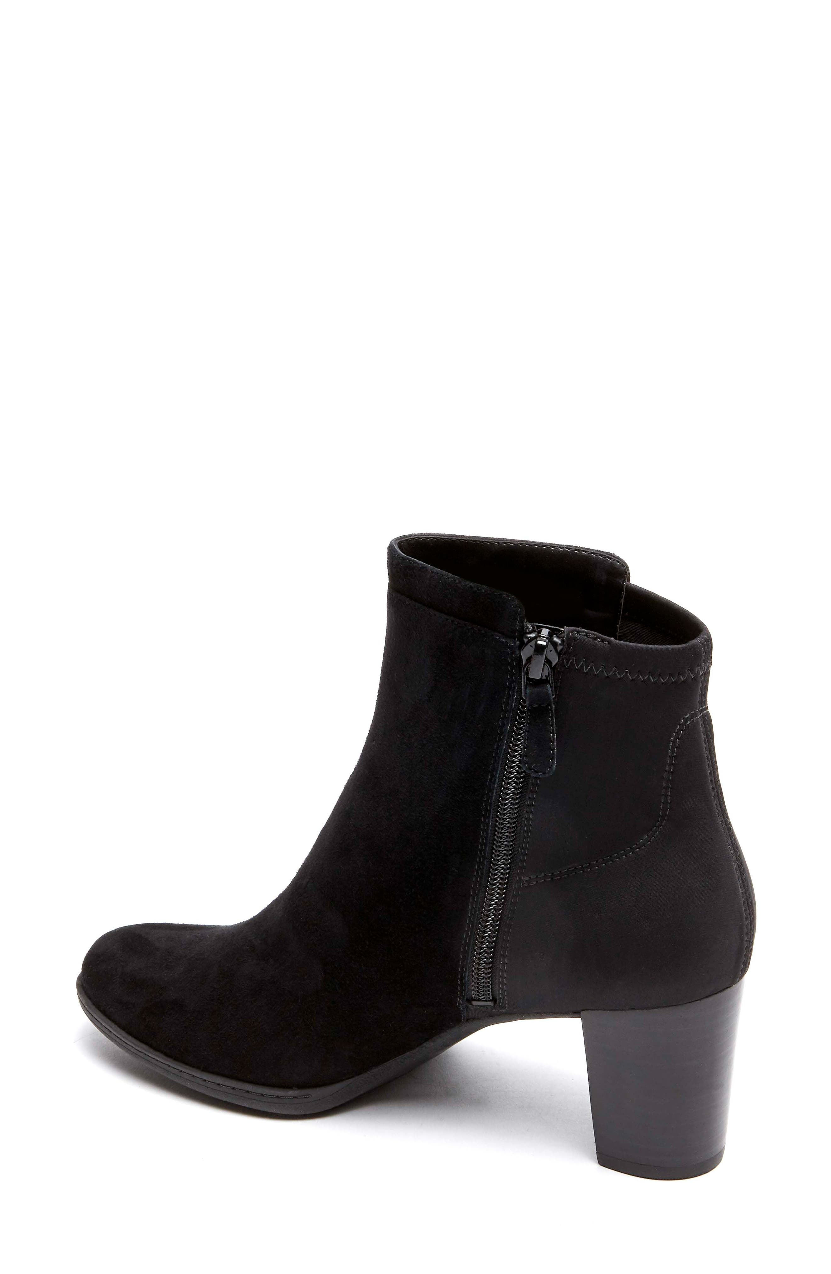 Chaya Bootie,                             Alternate thumbnail 2, color,                             BLACK SUEDE